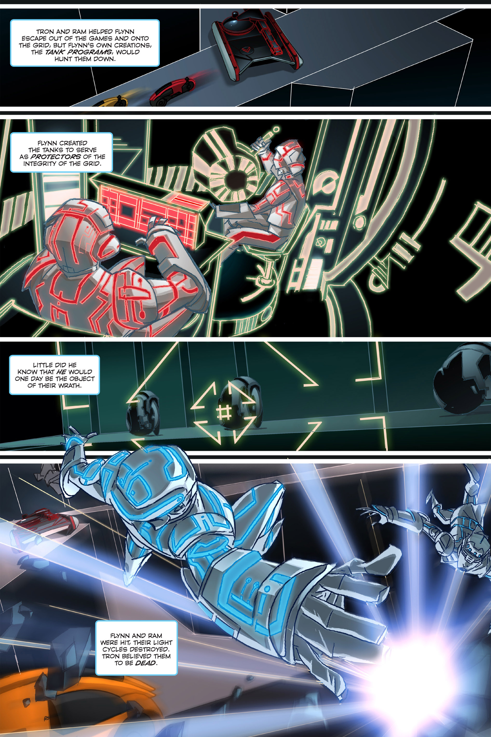 Read online TRON: Betrayal comic -  Issue # TPB - 7