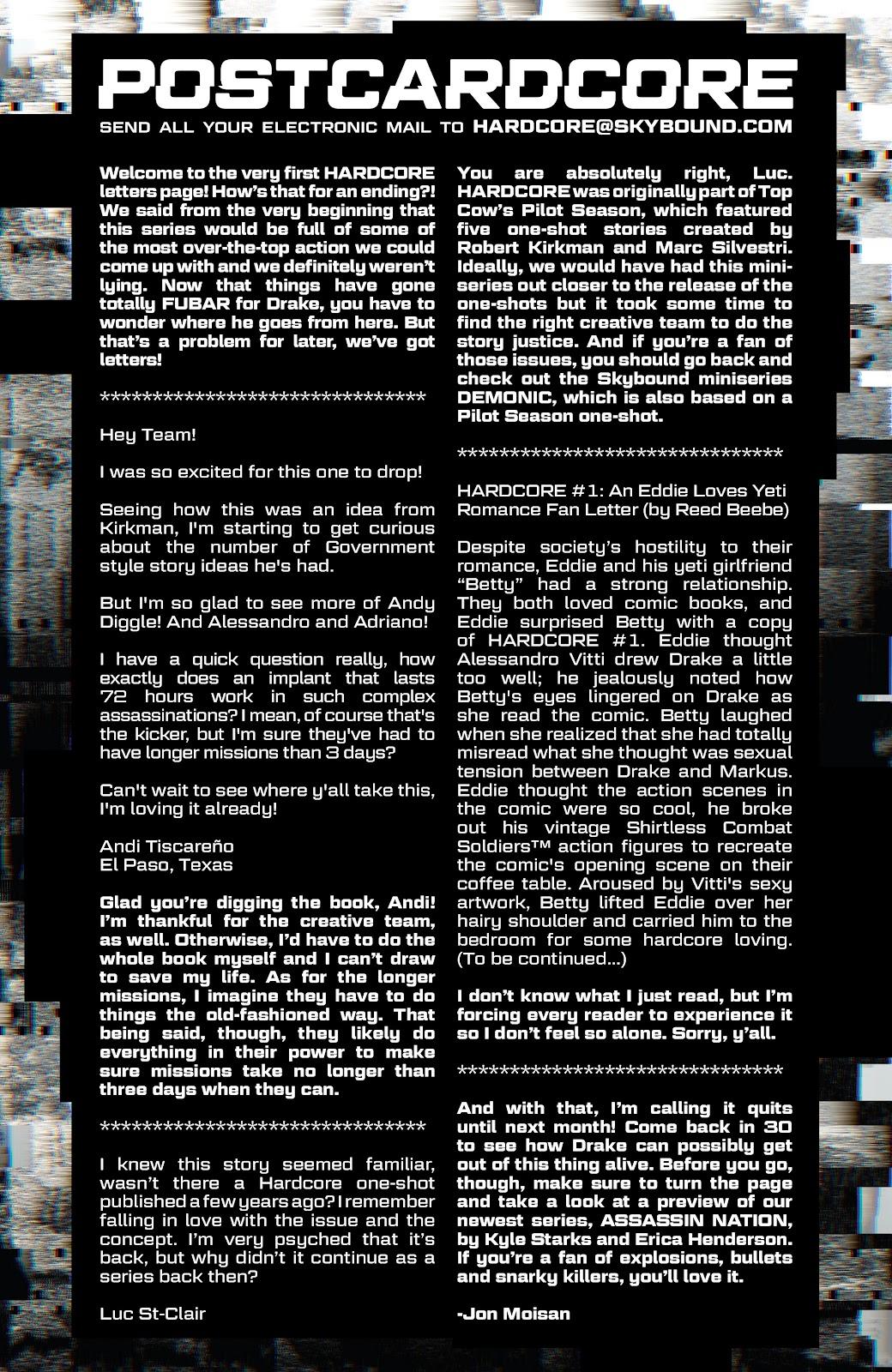 Read online Hardcore comic -  Issue #3 - 23
