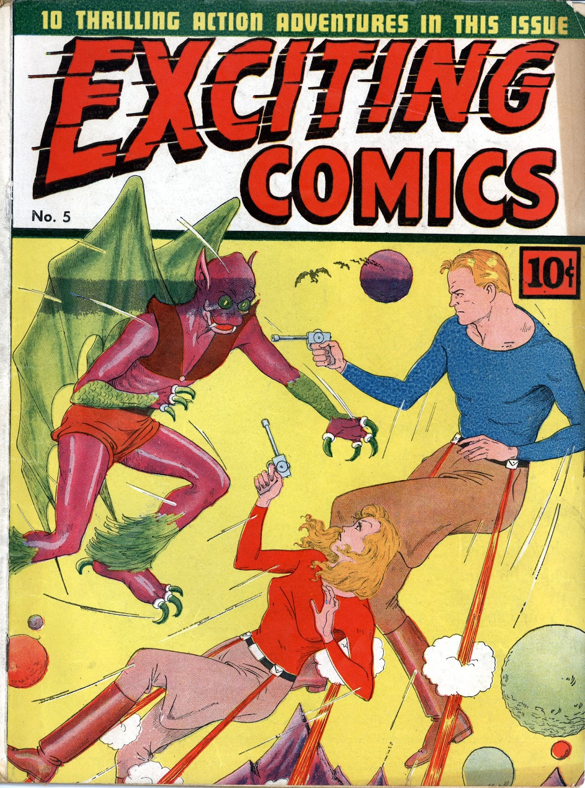 Exciting Comics (1940) issue 5 - Page 1