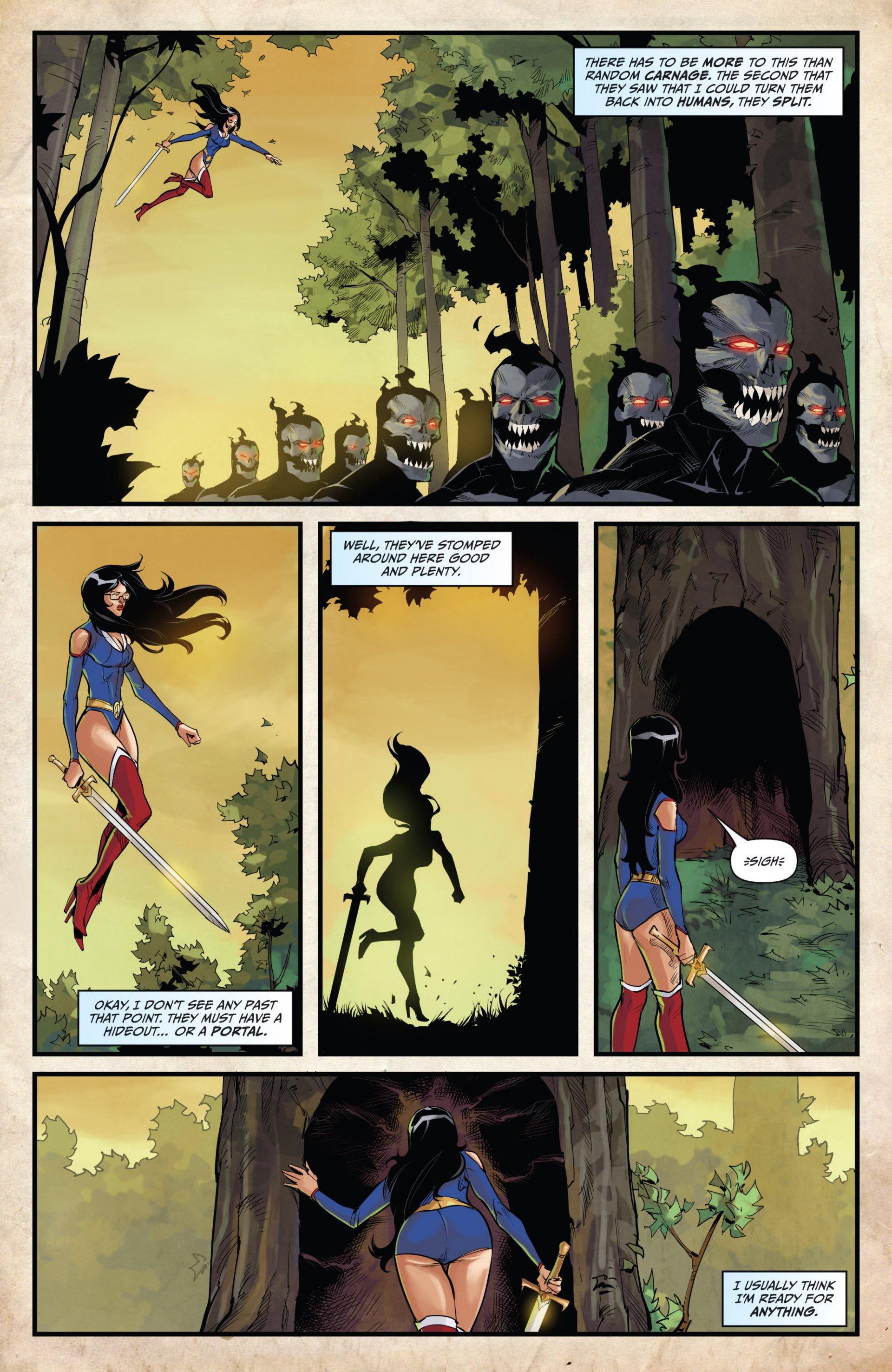 Read online Grimm Fairy Tales vs. Wonderland comic -  Issue #1 - 21