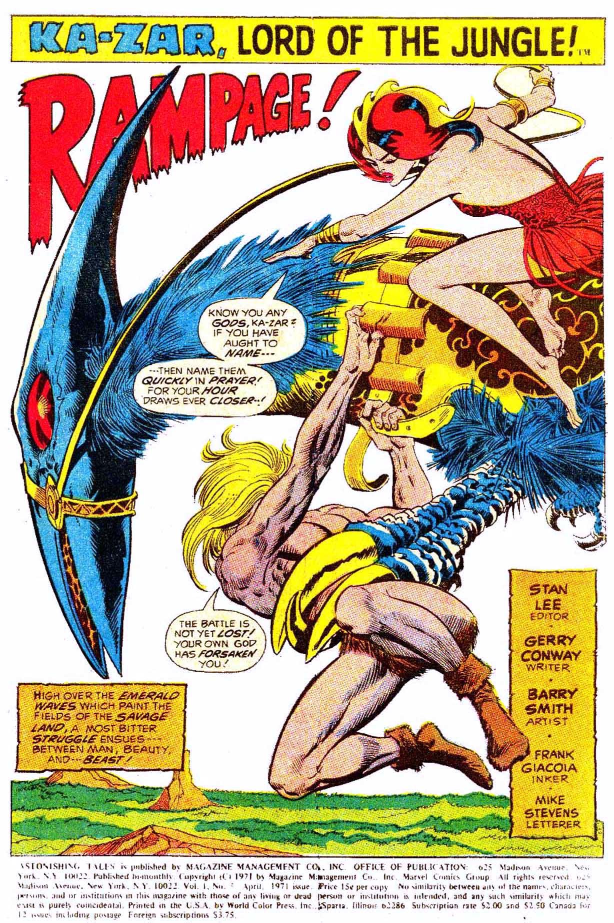 Read online Astonishing Tales (1970) comic -  Issue #5 - 12