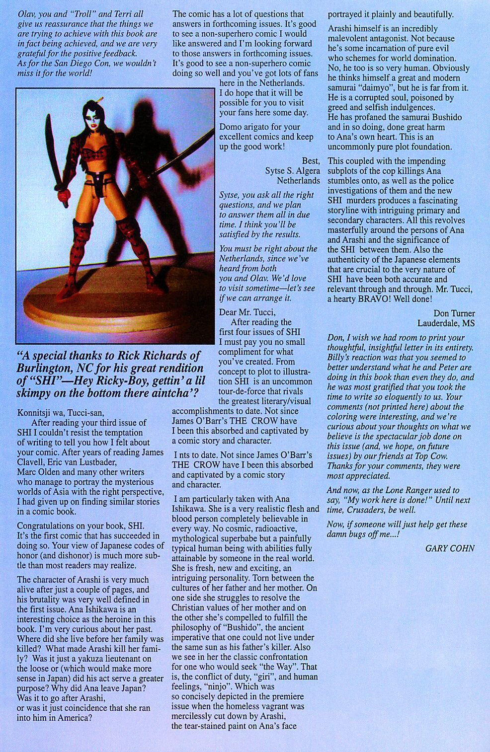 Read online Shi: The Way of the Warrior comic -  Issue #5 - 27