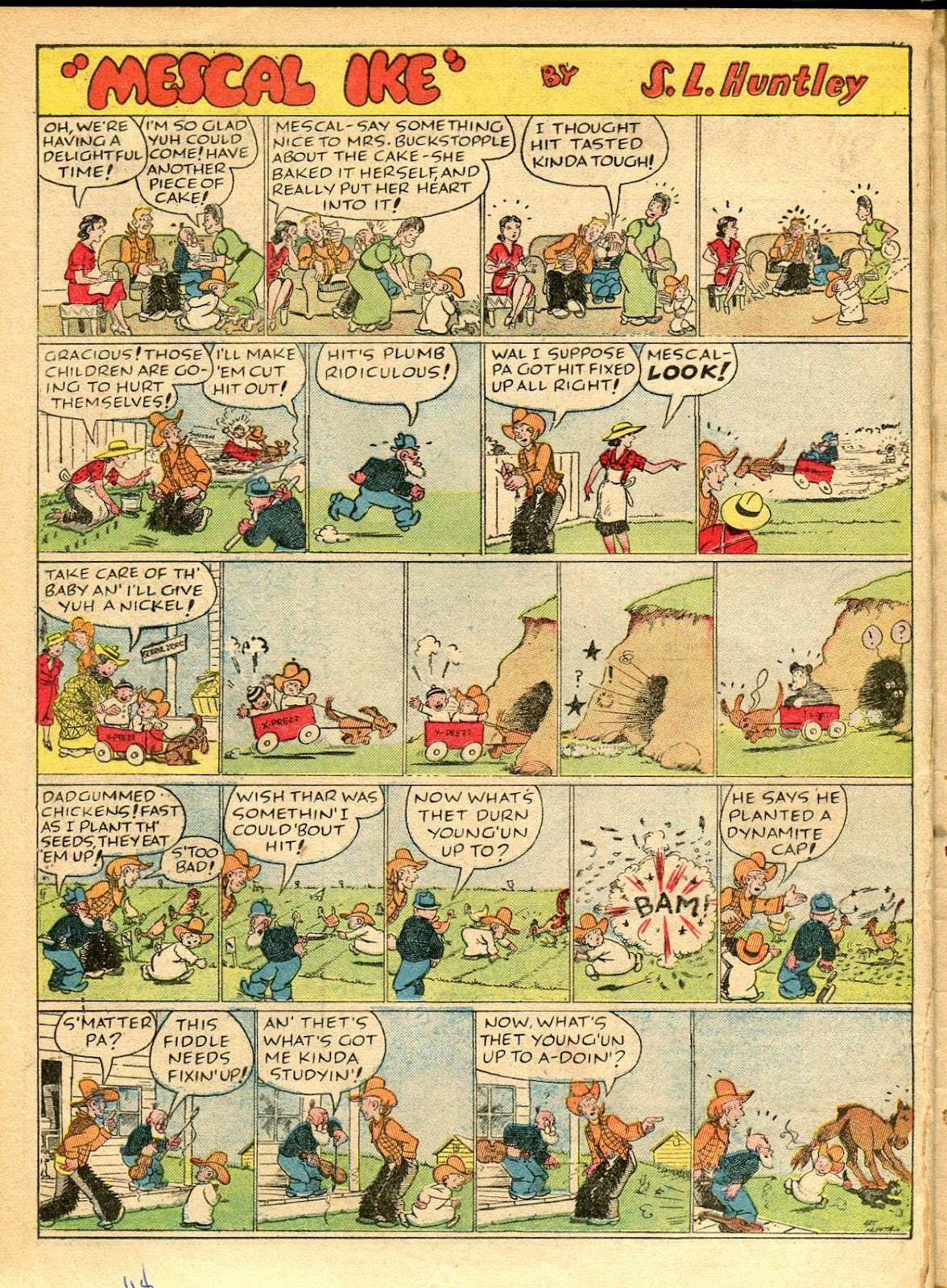 Read online Famous Funnies comic -  Issue #42 - 47