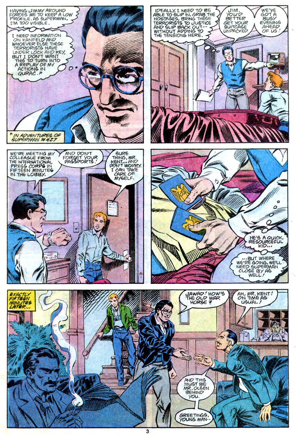 Read online Adventures of Superman (1987) comic -  Issue #443 - 4