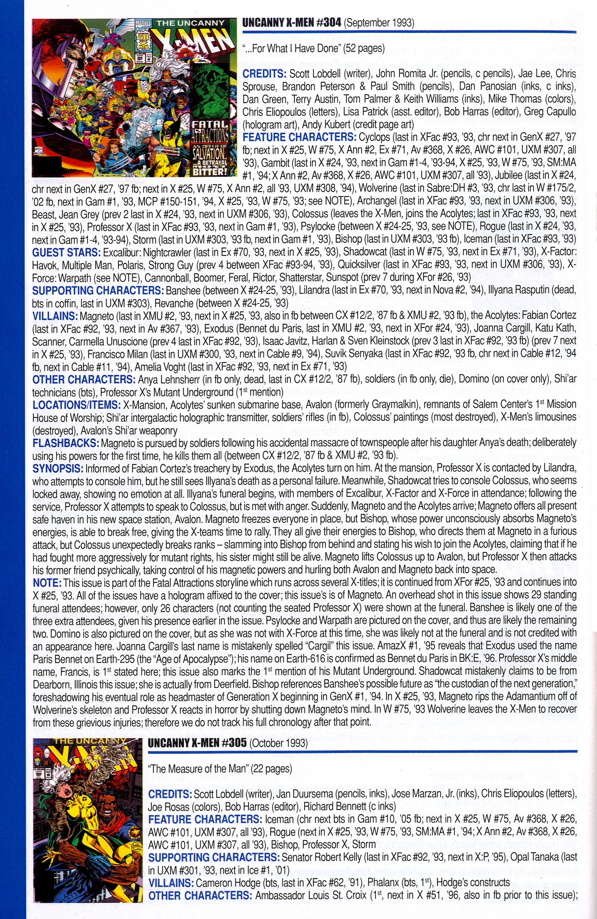 Read online Official Index to the Marvel Universe comic -  Issue #8 - 46