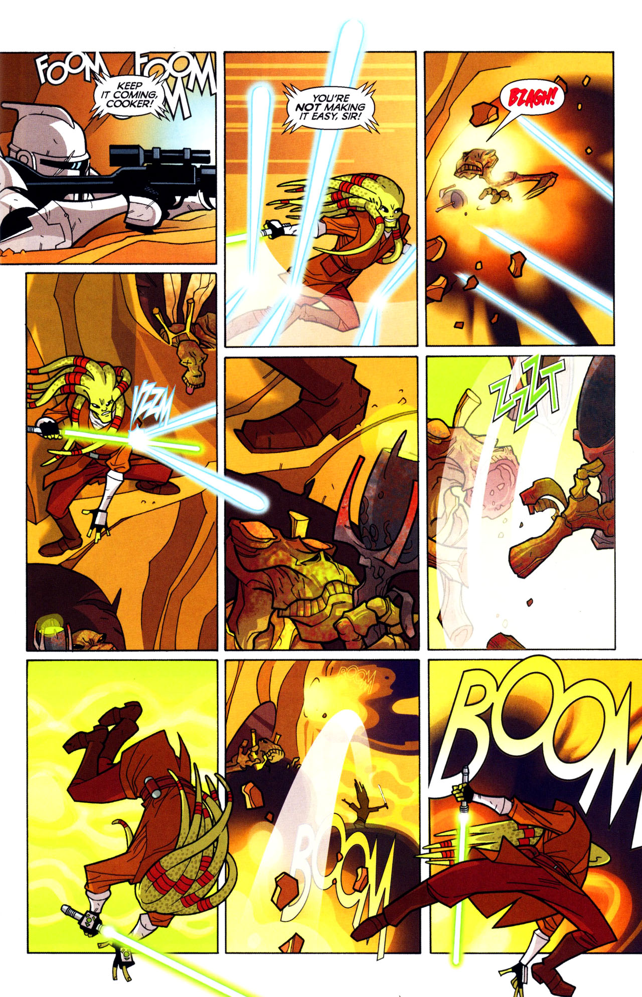 Read online Free Comic Book Day and Star Wars: The Clone Wars-Gauntlet of Death comic -  Issue # Full - 7