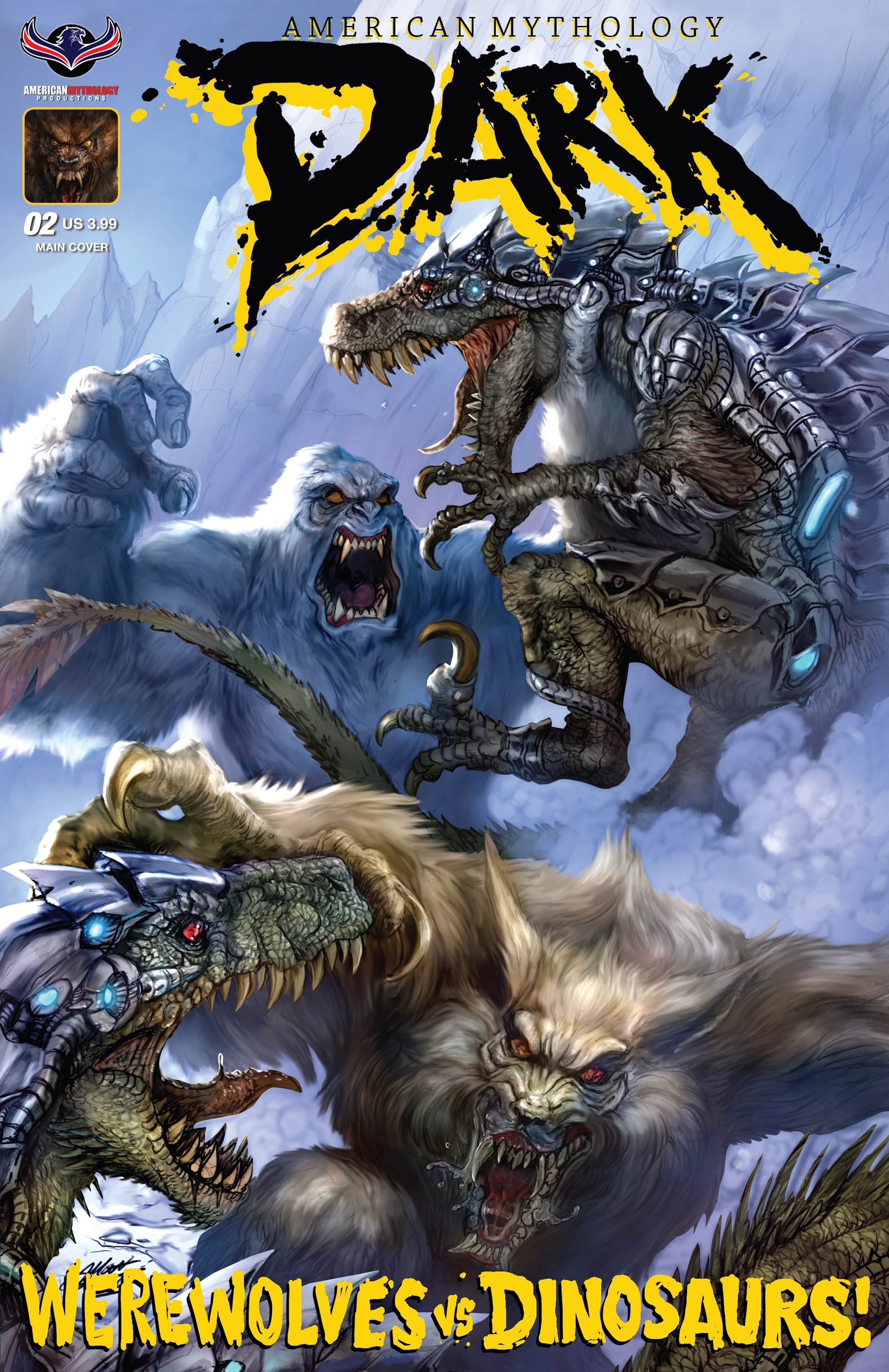 Read online American Mythology Dark: Werewolves vs Dinosaurs comic -  Issue #2 - 1