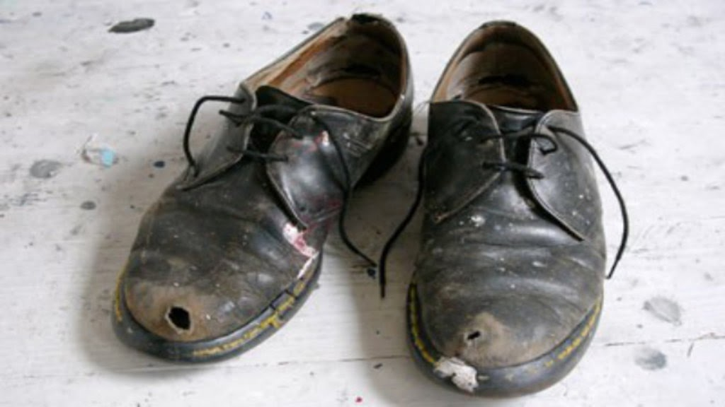 It was customary to throw old shoes after a newly-wedded couple in San Jose.  Image credit:  BigThink.com.