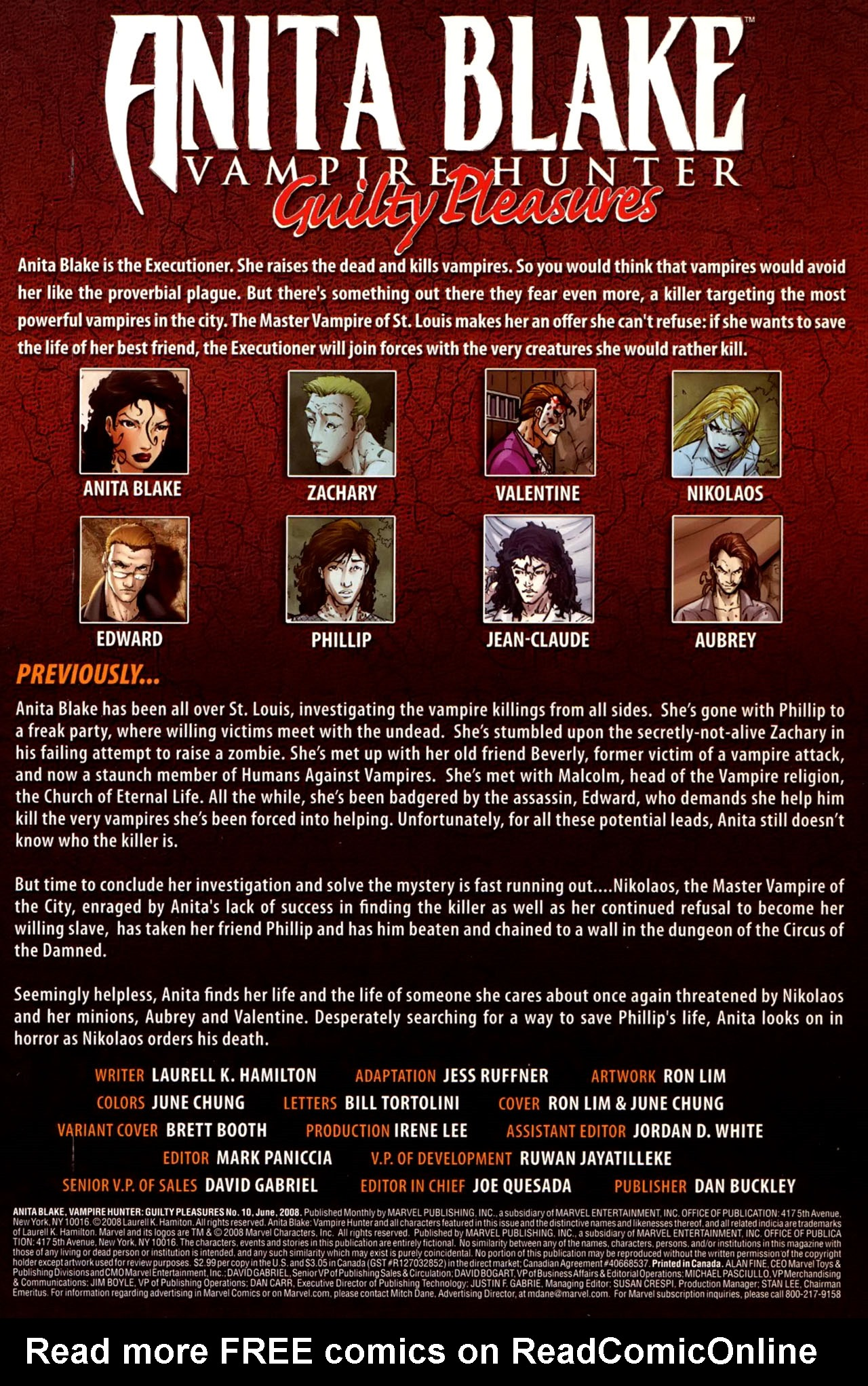 Read online Anita Blake, Vampire Hunter: Guilty Pleasures comic -  Issue #10 - 2