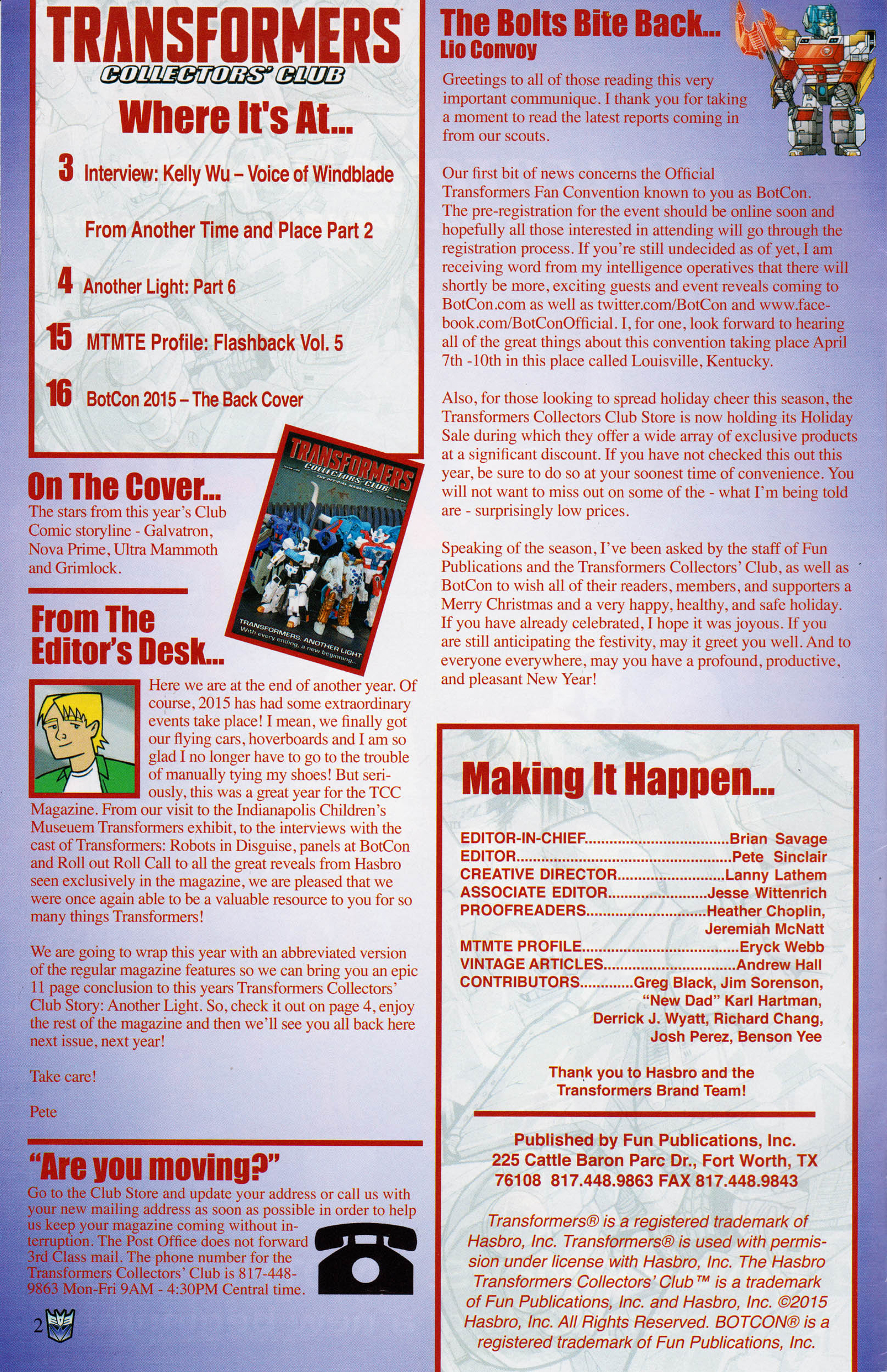 Read online Transformers: Collectors' Club comic -  Issue #66 - 2
