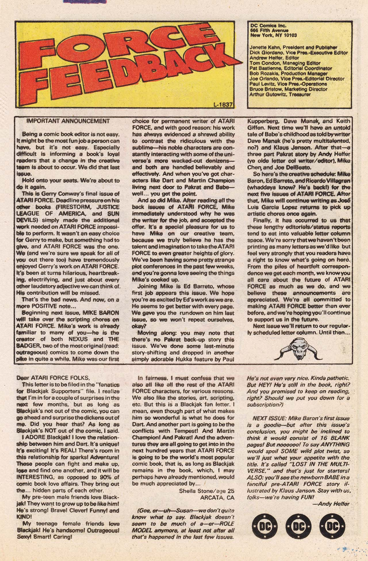 Read online Atari Force (1984) comic -  Issue #13 - 23