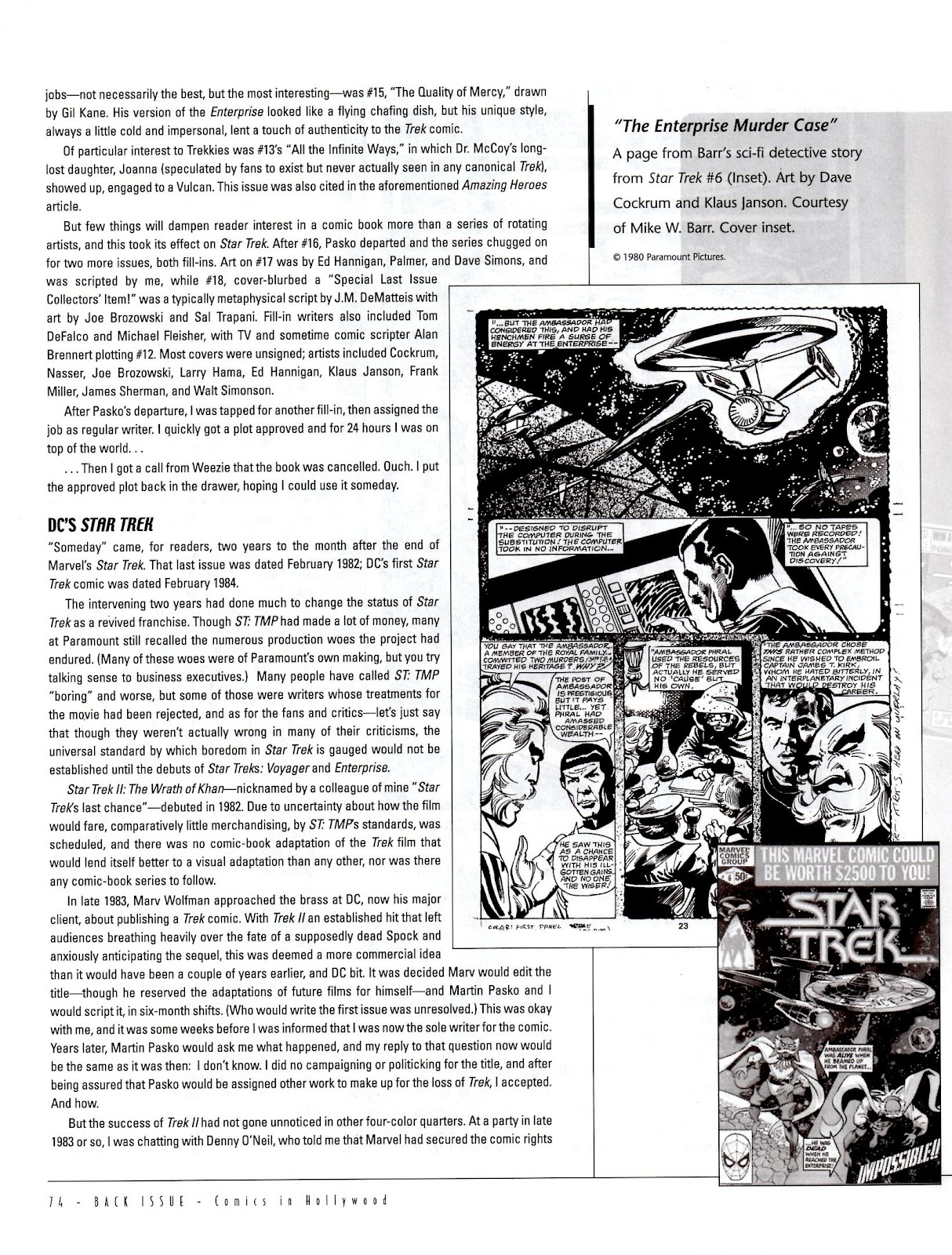 Back Issue issue 5 - Page 76