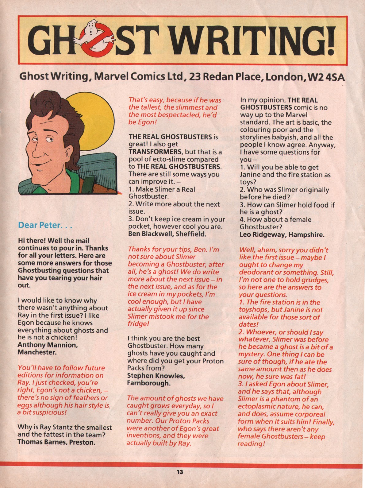 The Real Ghostbusters Issue #5 #7 - English 13