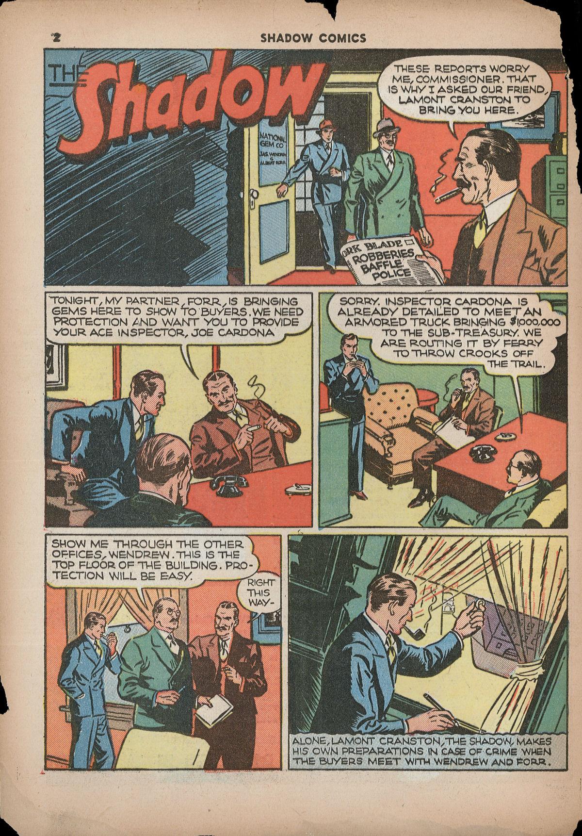 Read online Shadow Comics comic -  Issue #2 - 5