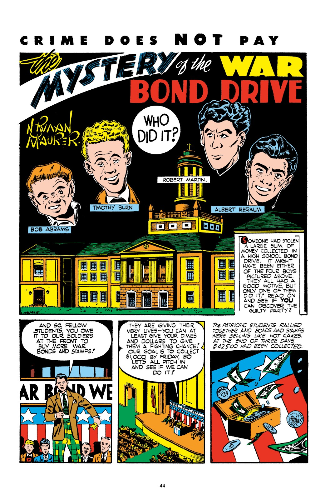 Read online Crime Does Not Pay Archives comic -  Issue # TPB 2 (Part 1) - 44