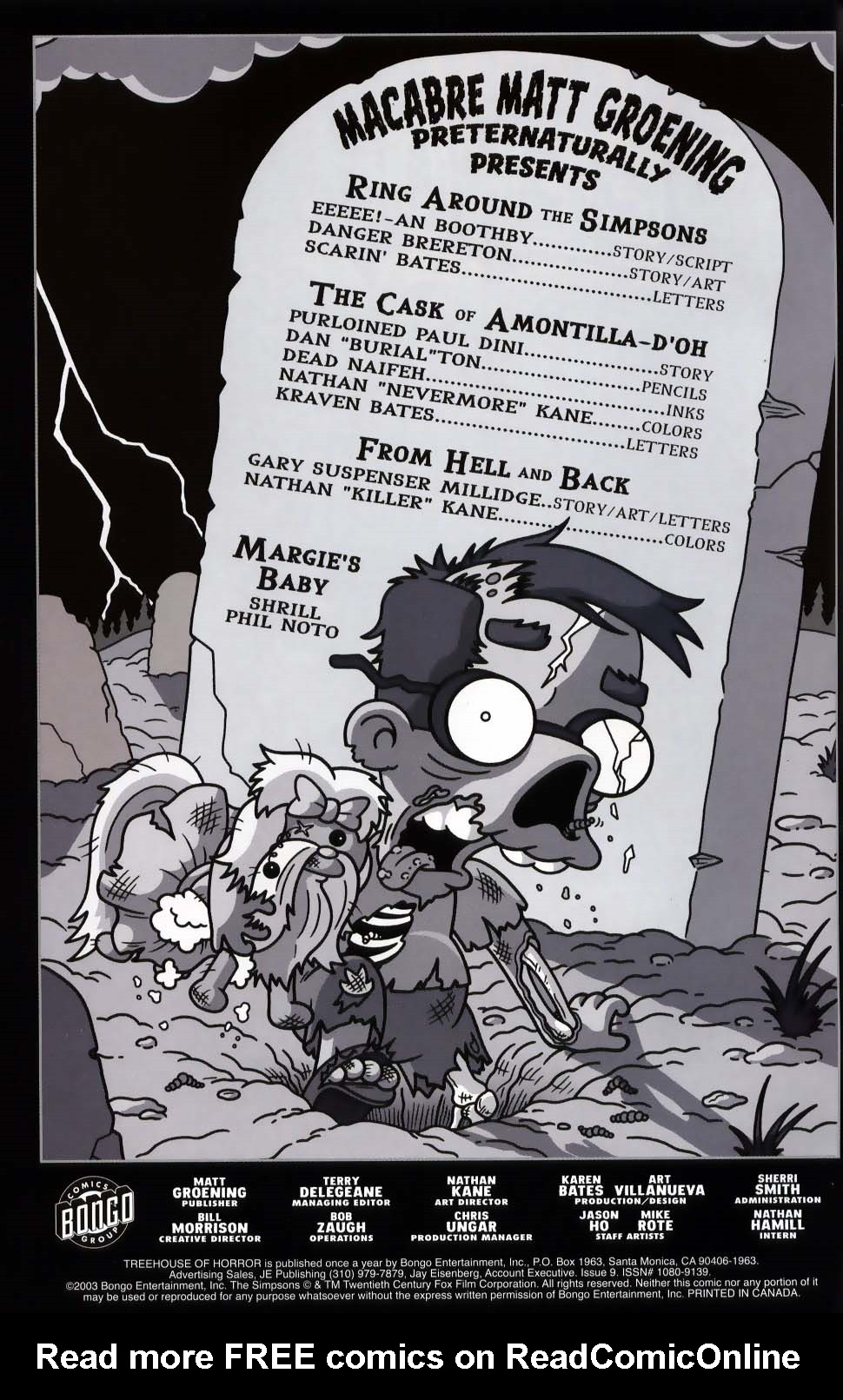 Read online Treehouse of Horror comic -  Issue #9 - 2