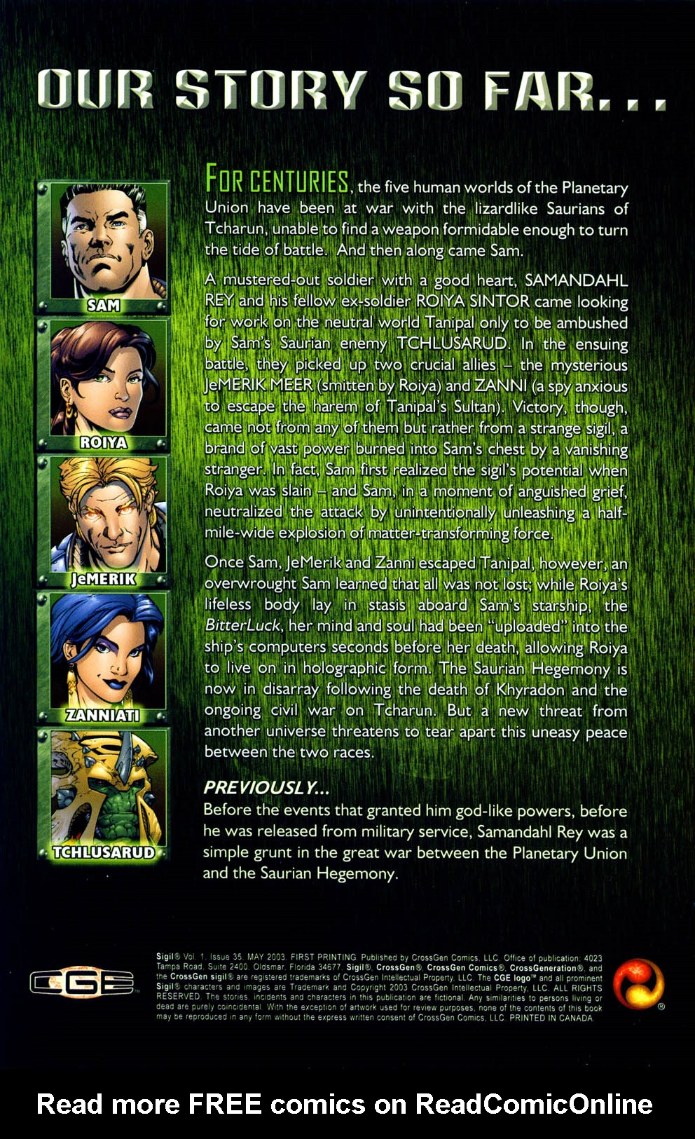Read online Sigil (2000) comic -  Issue #35 - 2