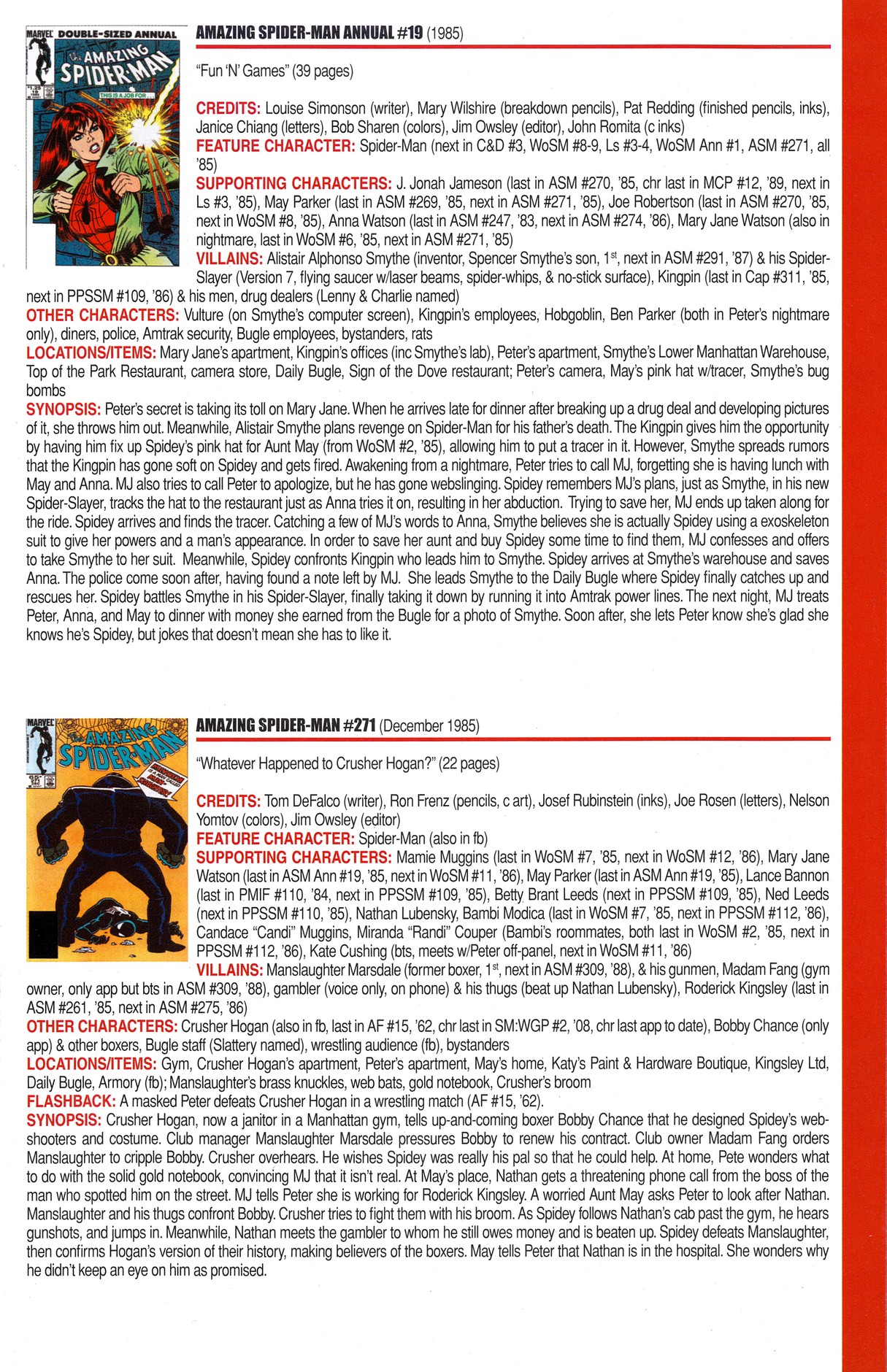 Read online Official Index to the Marvel Universe comic -  Issue #6 - 15