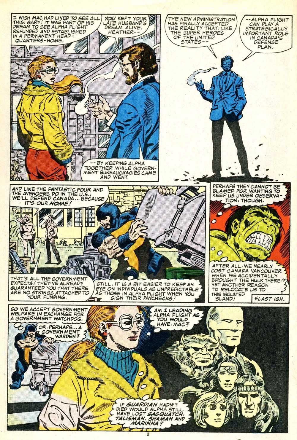 Read online Alpha Flight (1983) comic -  Issue #30 - 3