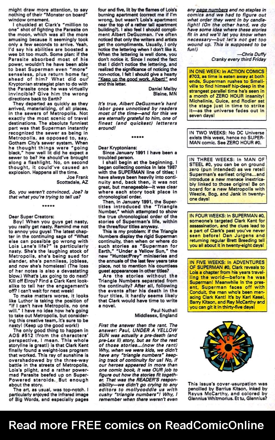 Read online Adventures of Superman (1987) comic -  Issue #516 - 23