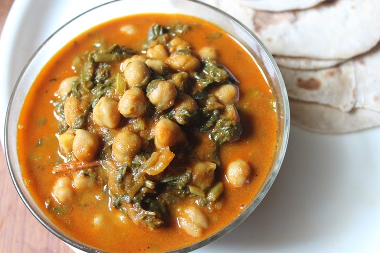 Chana Palak Recipe – Chole Palak Recipe – Spinach & Chickpea Curry
