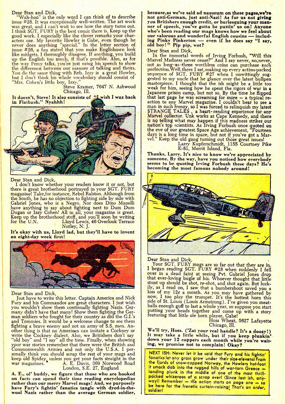 Read online Sgt. Fury comic -  Issue #32 - 33