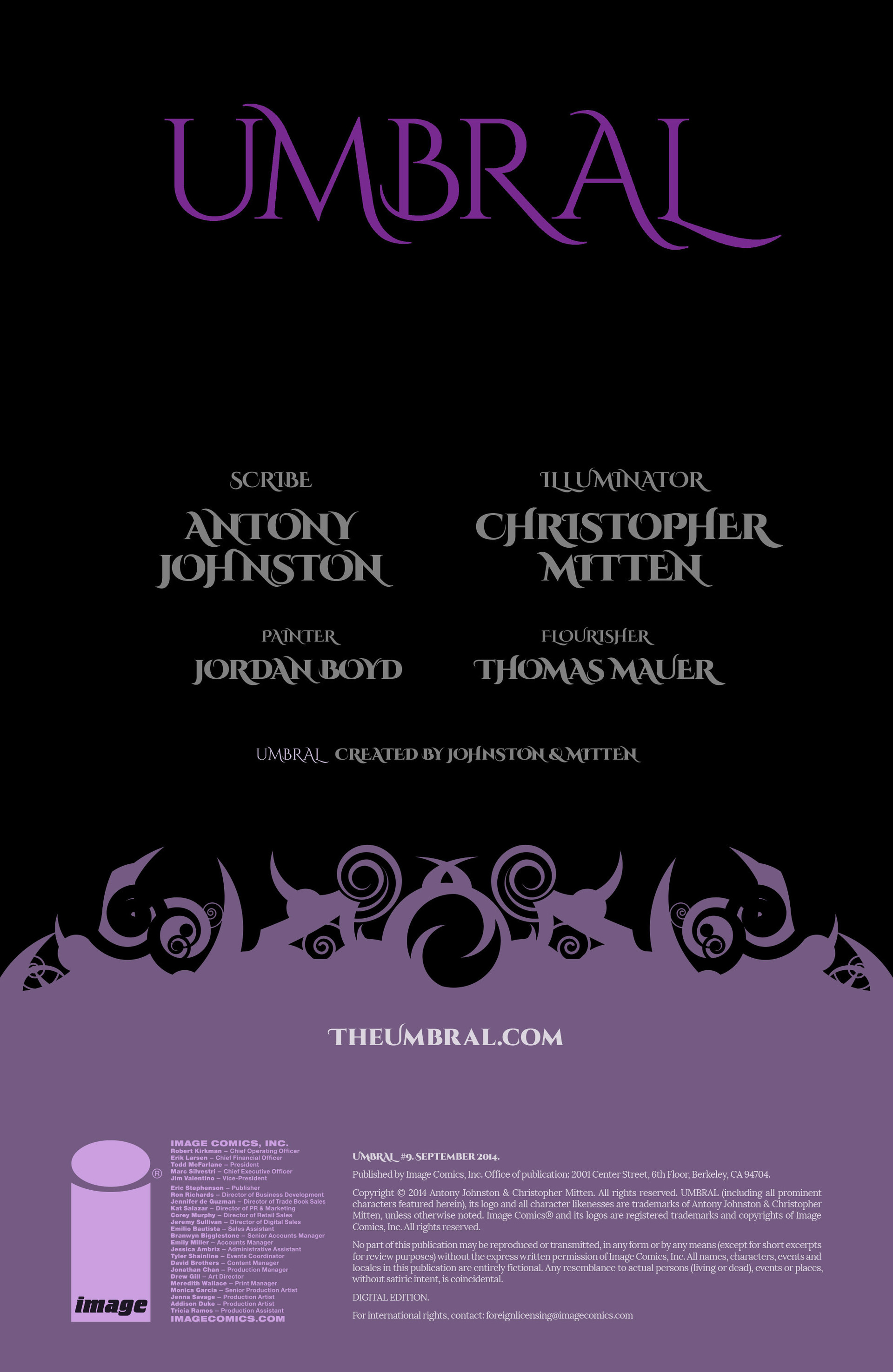 Read online Umbral comic -  Issue #9 - 2