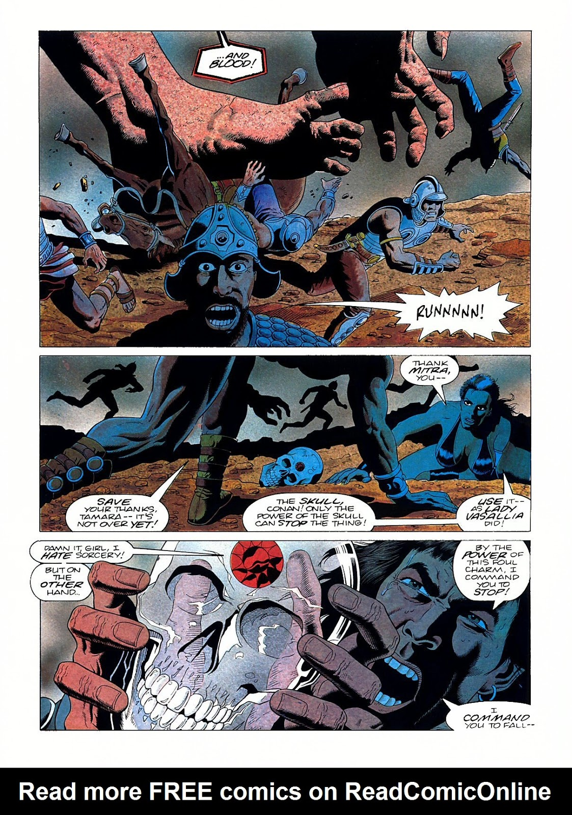 Read online Marvel Graphic Novel: Conan the Barbarian: The Skull of Set comic -  Issue # Full - 56
