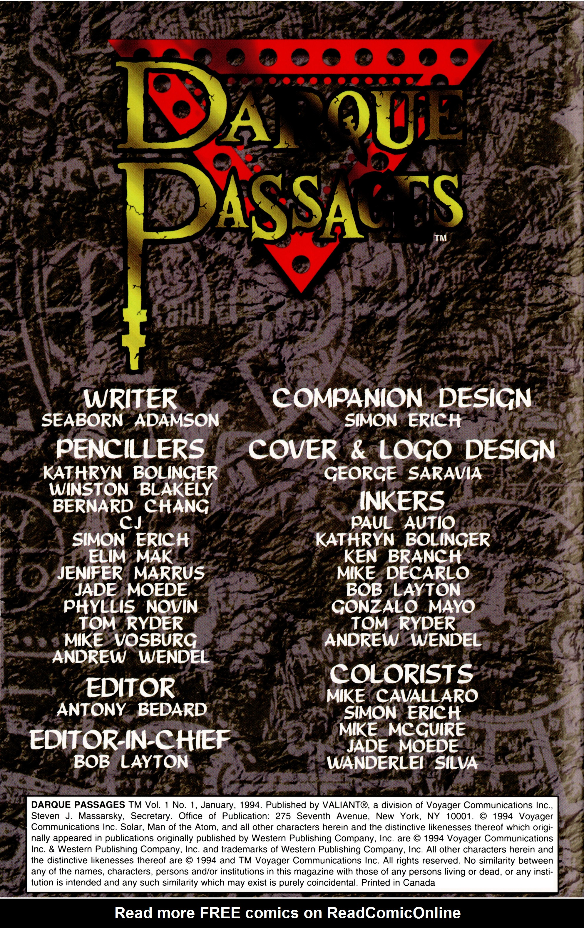 Read online Darque Passages comic -  Issue # Full - 2