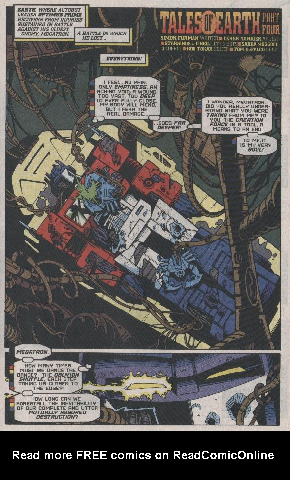 Read online Transformers: Generation 2 comic -  Issue #7 - 19