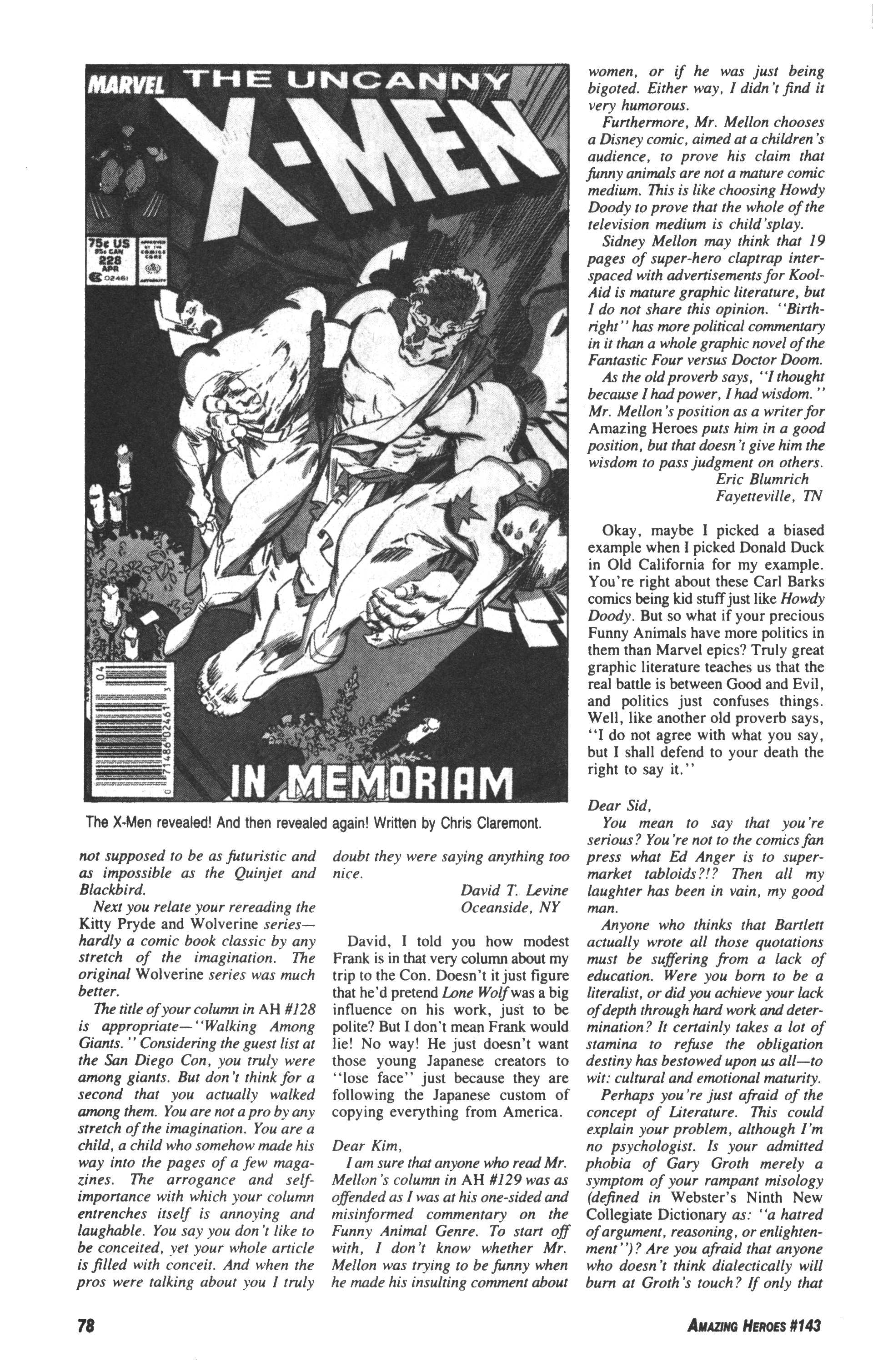 Read online Amazing Heroes comic -  Issue #143 - 78