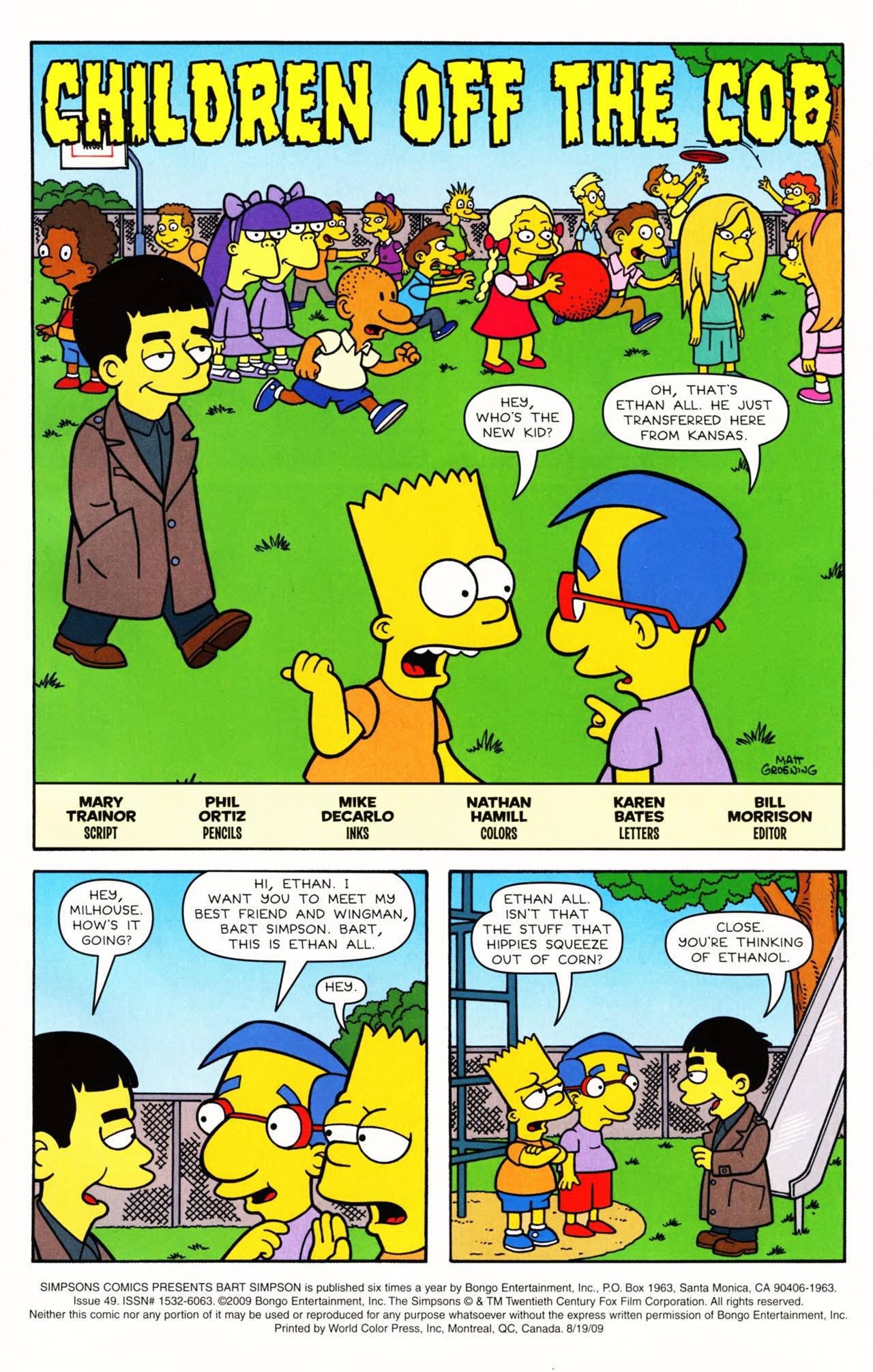 Read online Simpsons Comics Presents Bart Simpson comic -  Issue #49 - 2