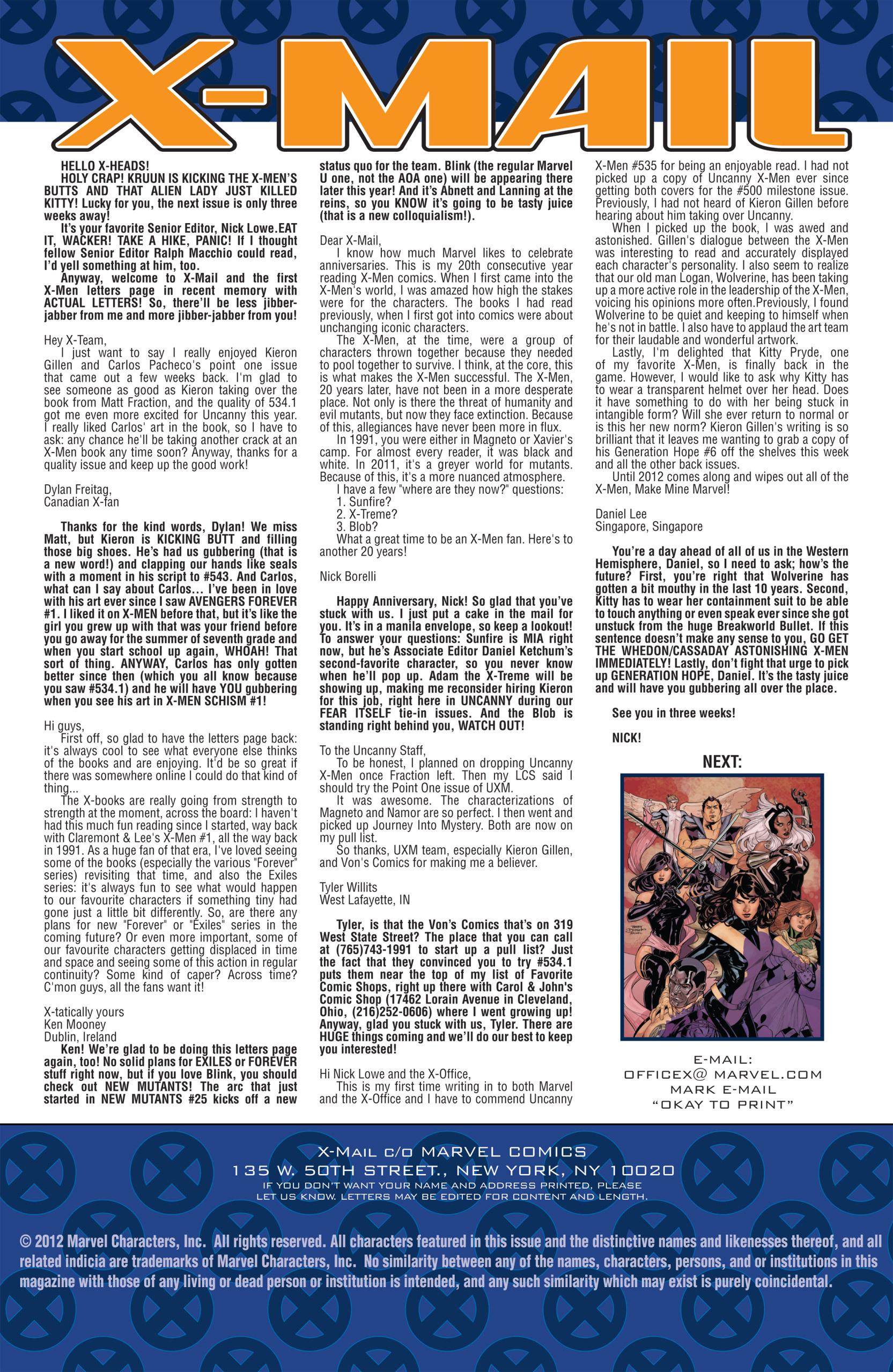 Read online Uncanny X-Men (1963) comic -  Issue #537 - 25
