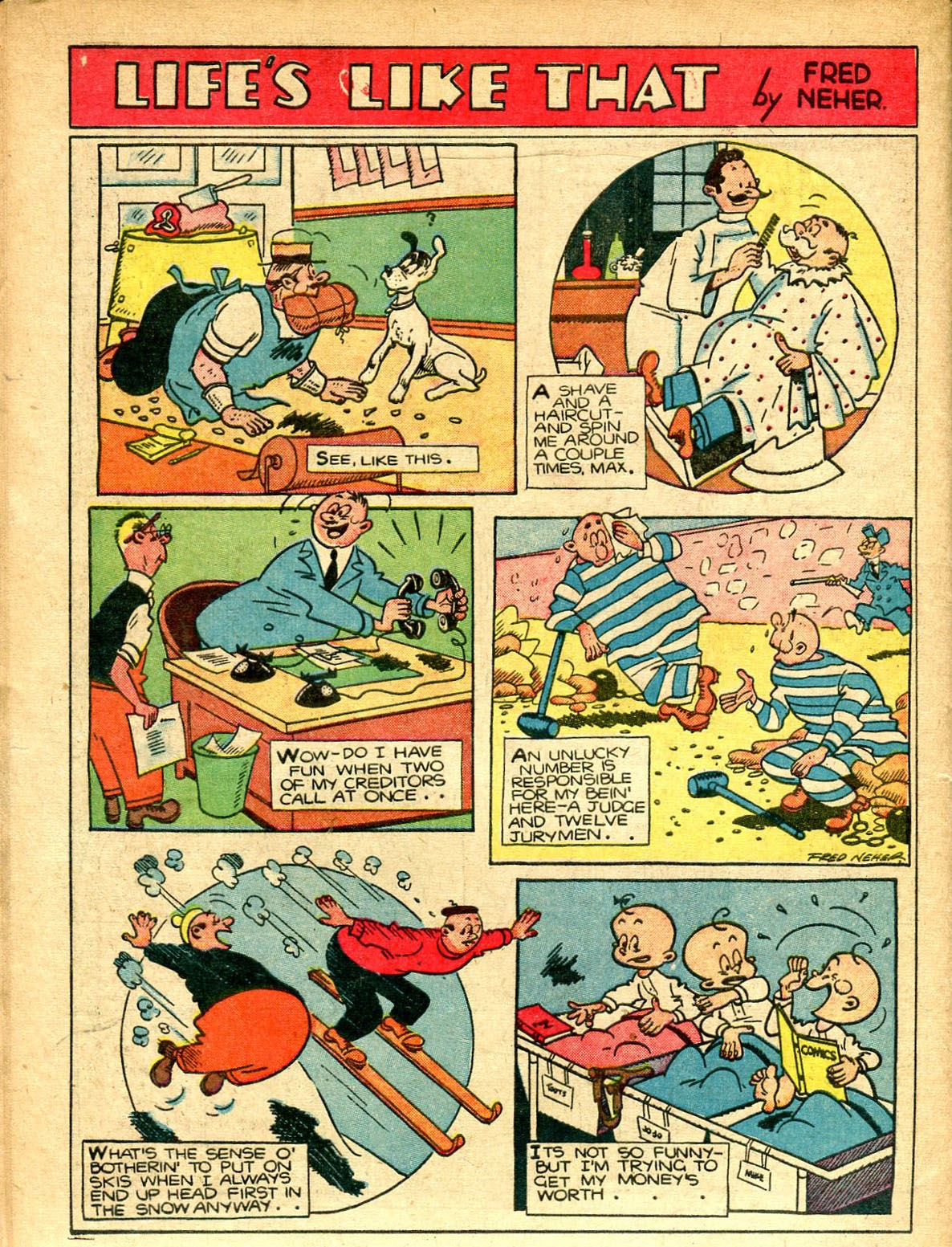 Read online Famous Funnies comic -  Issue #77 - 57
