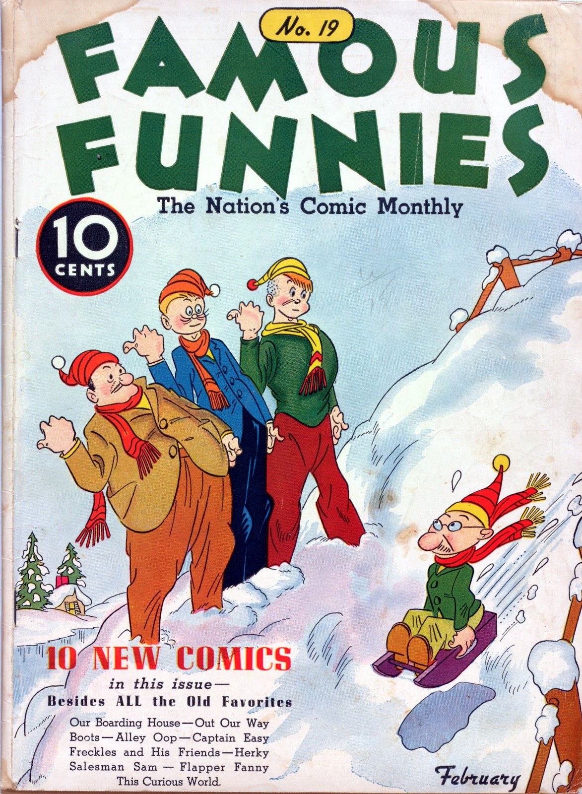 Read online Famous Funnies comic -  Issue #19 - 1