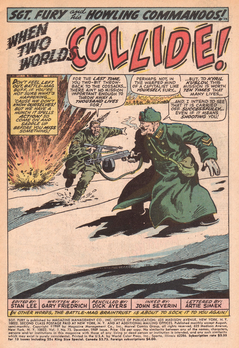 Read online Sgt. Fury comic -  Issue #73 - 3