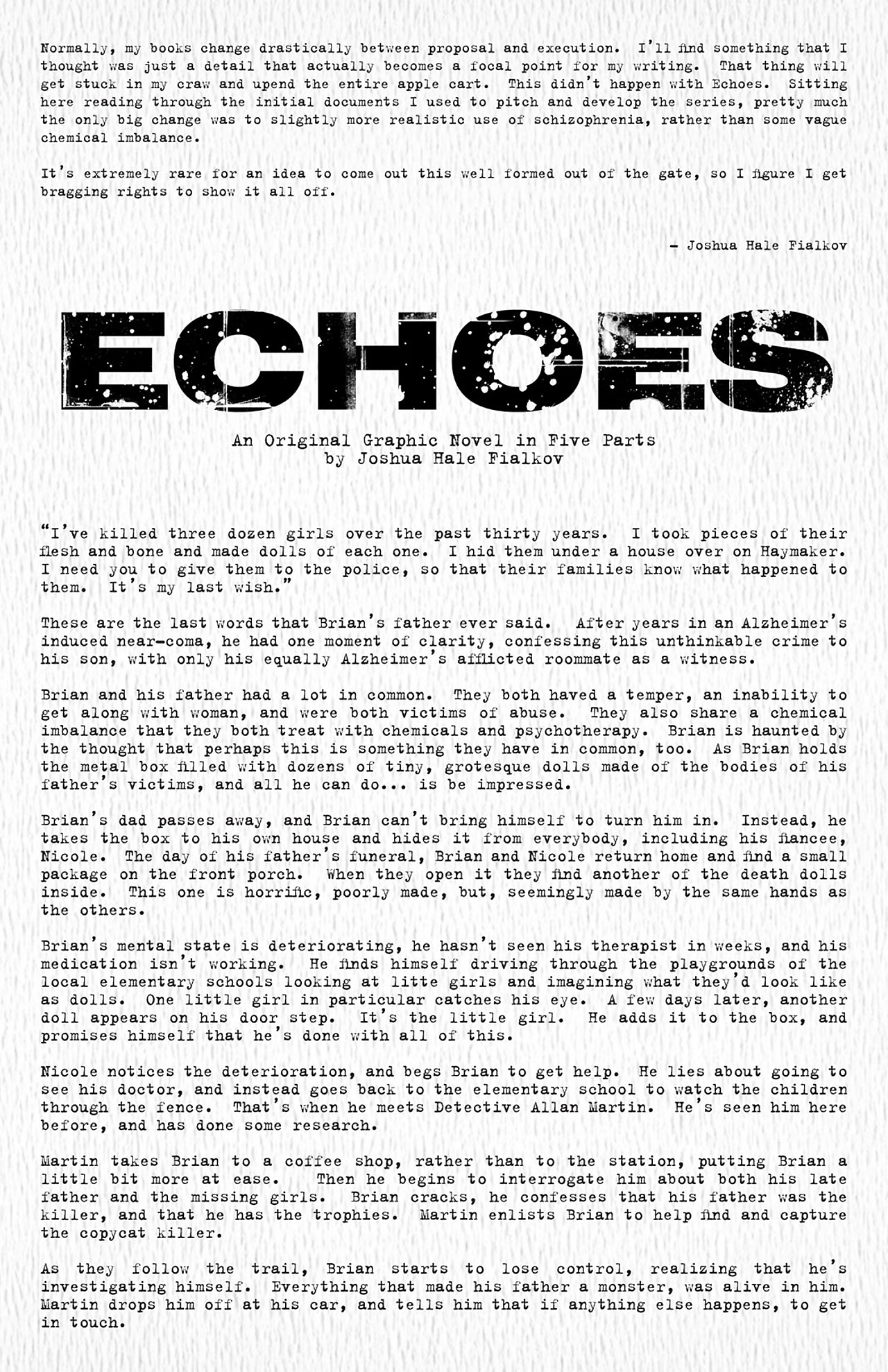 Read online Echoes comic -  Issue # TPB - 136