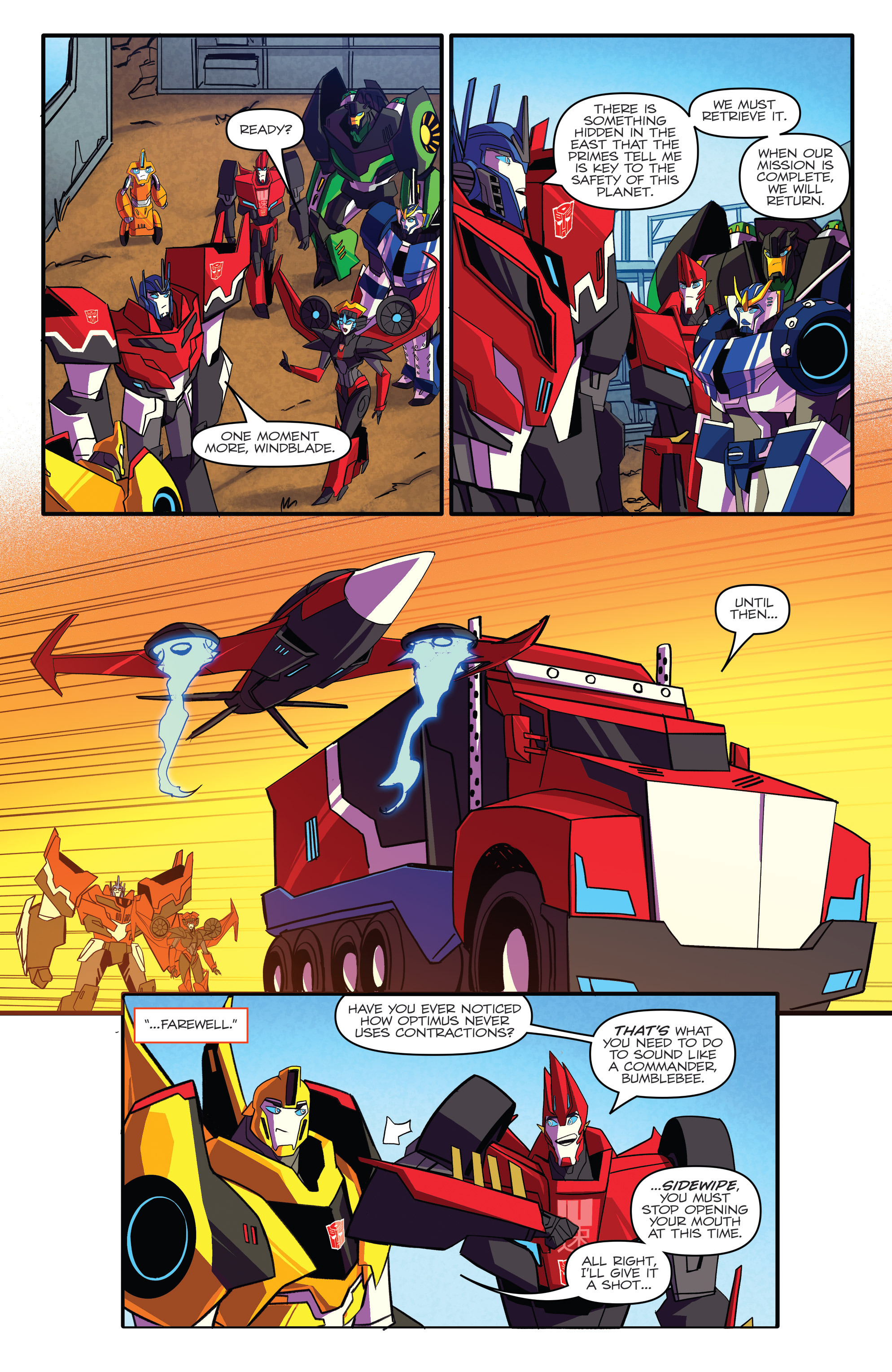 Read online Transformers: Robots In Disguise (2015) comic -  Issue #5 - 7