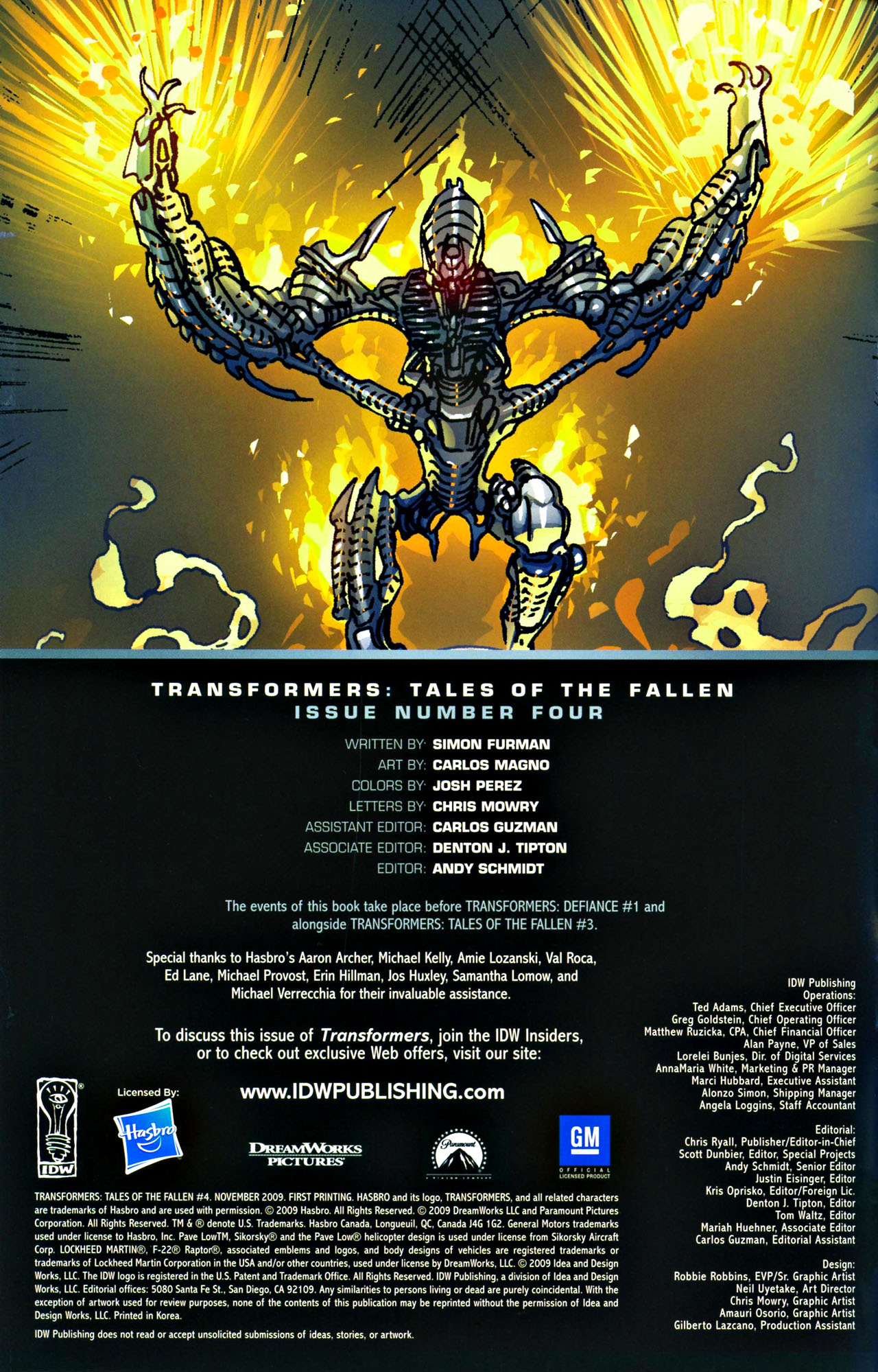 Read online Transformers: Tales of The Fallen comic -  Issue #4 - 2