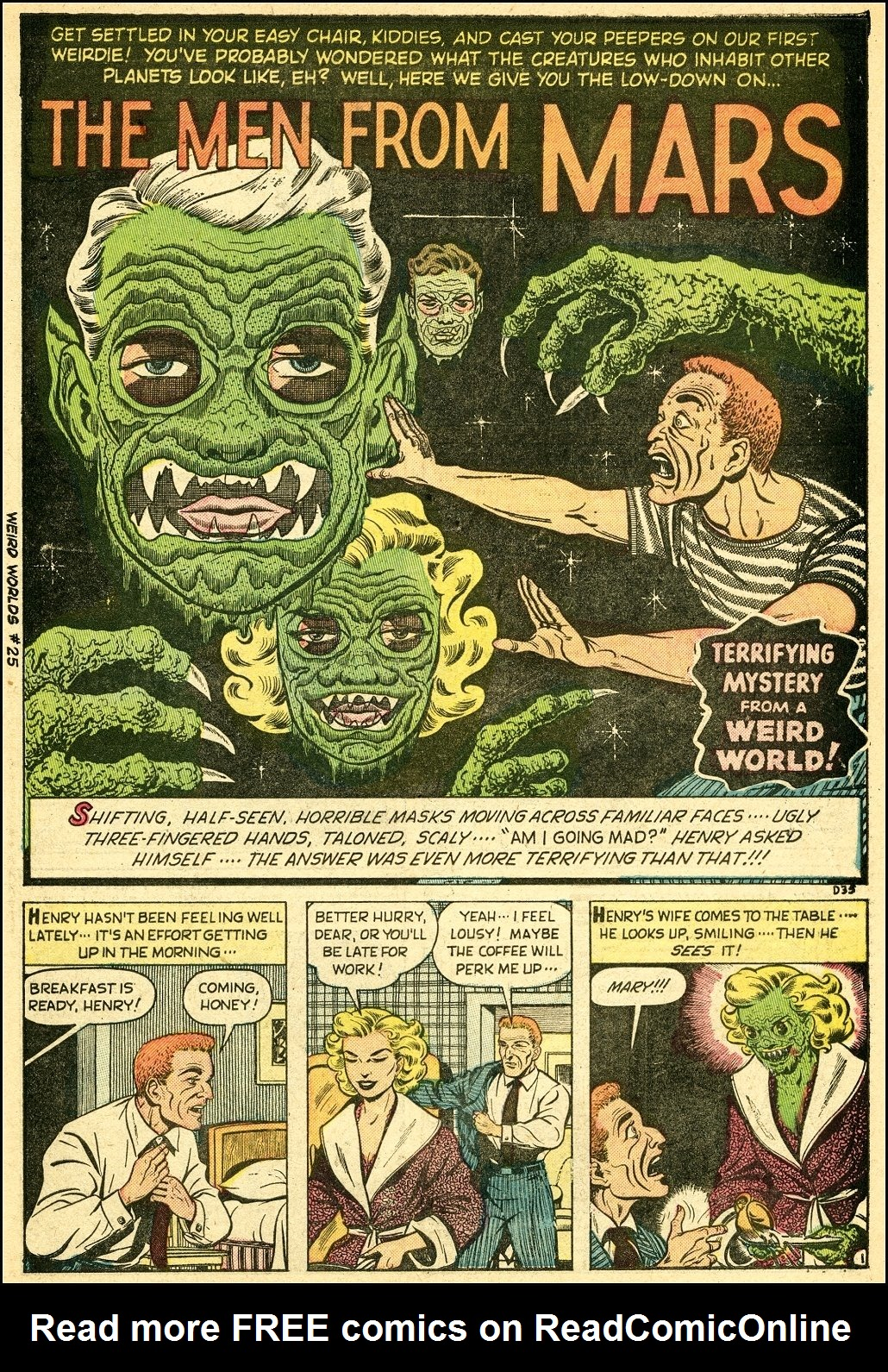 Read online Adventures into Weird Worlds comic -  Issue #25 - 2