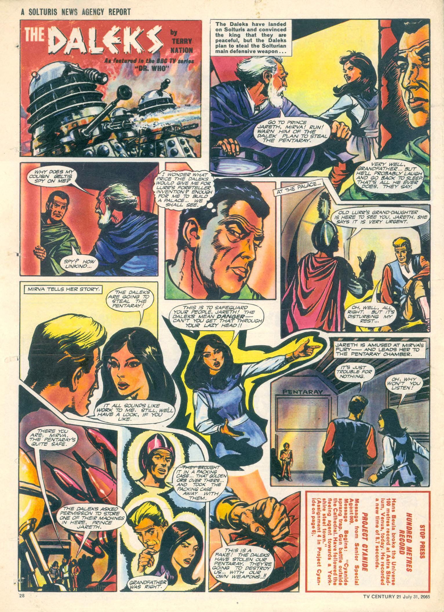 Read online TV Century 21 (TV 21) comic -  Issue #28 - 26