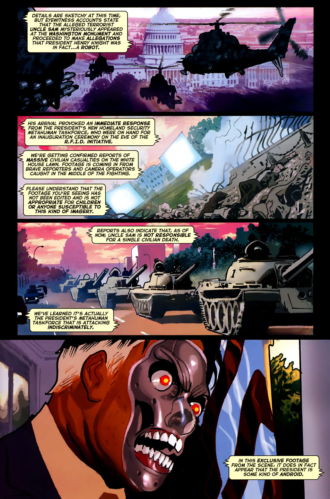 Read online Uncle Sam and the Freedom Fighters (2006) comic -  Issue #8 - 2