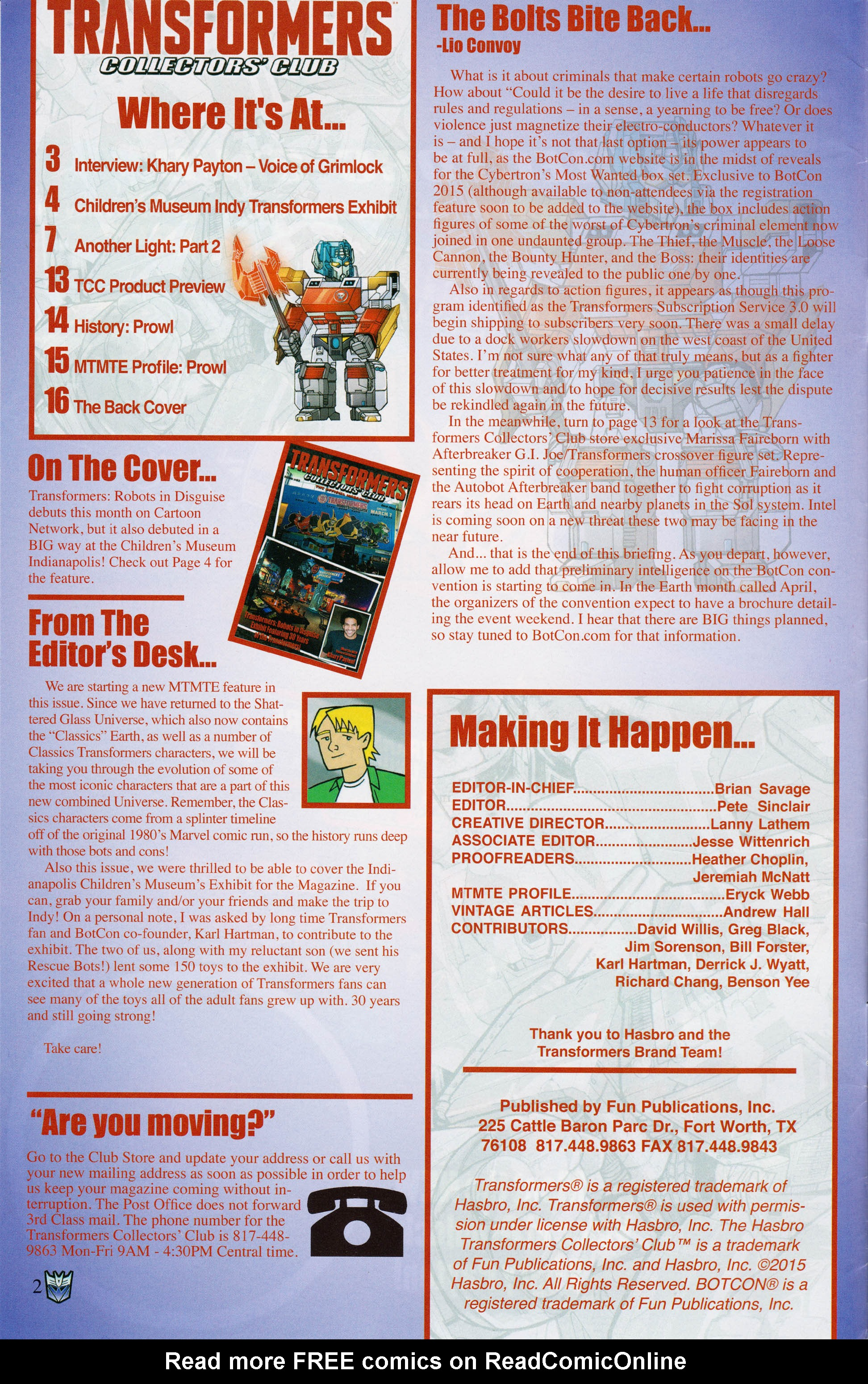 Read online Transformers: Collectors' Club comic -  Issue #62 - 2