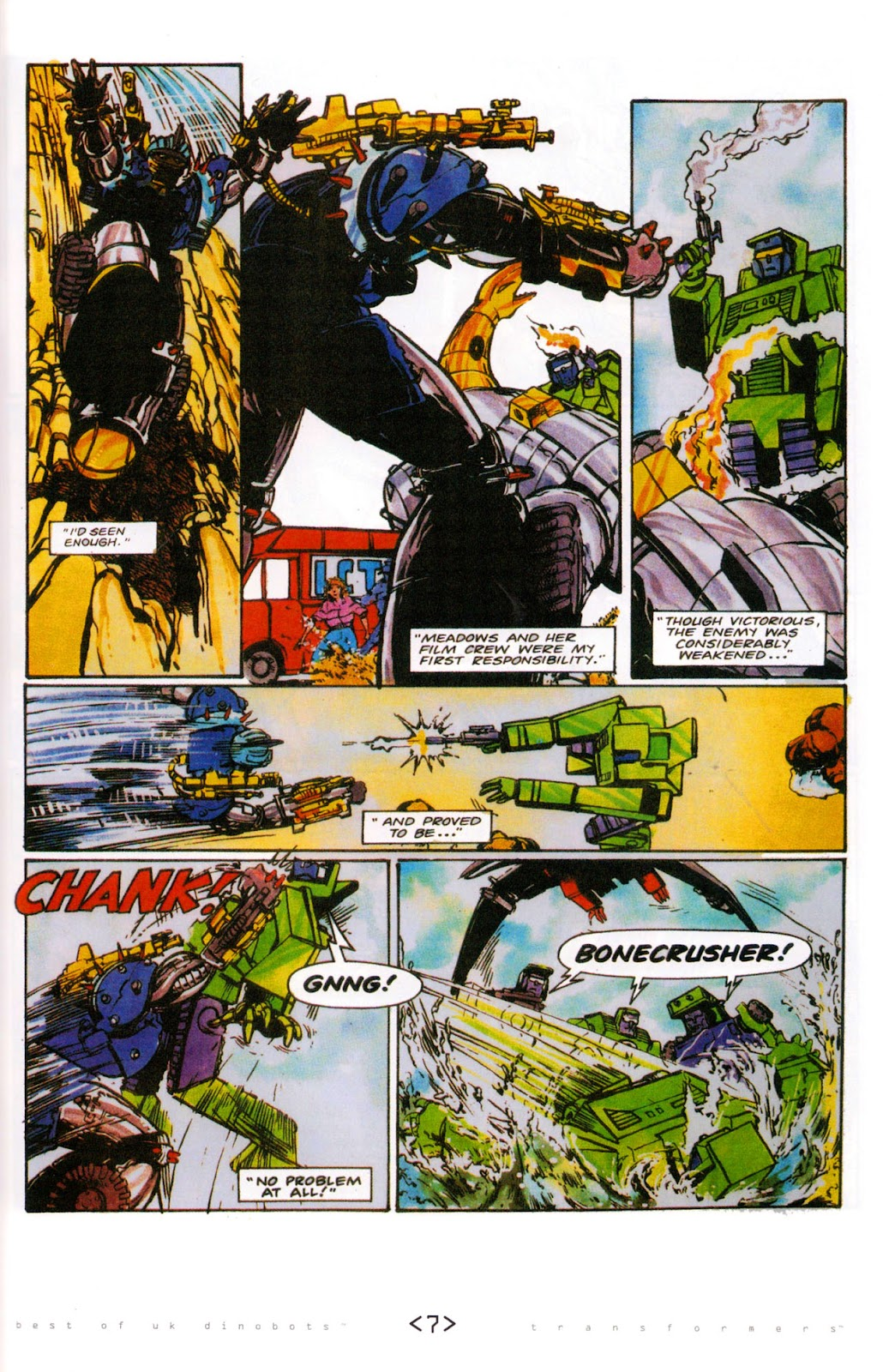 Read online The Transformers: Best of UK: Dinobots comic -  Issue #6 - 10