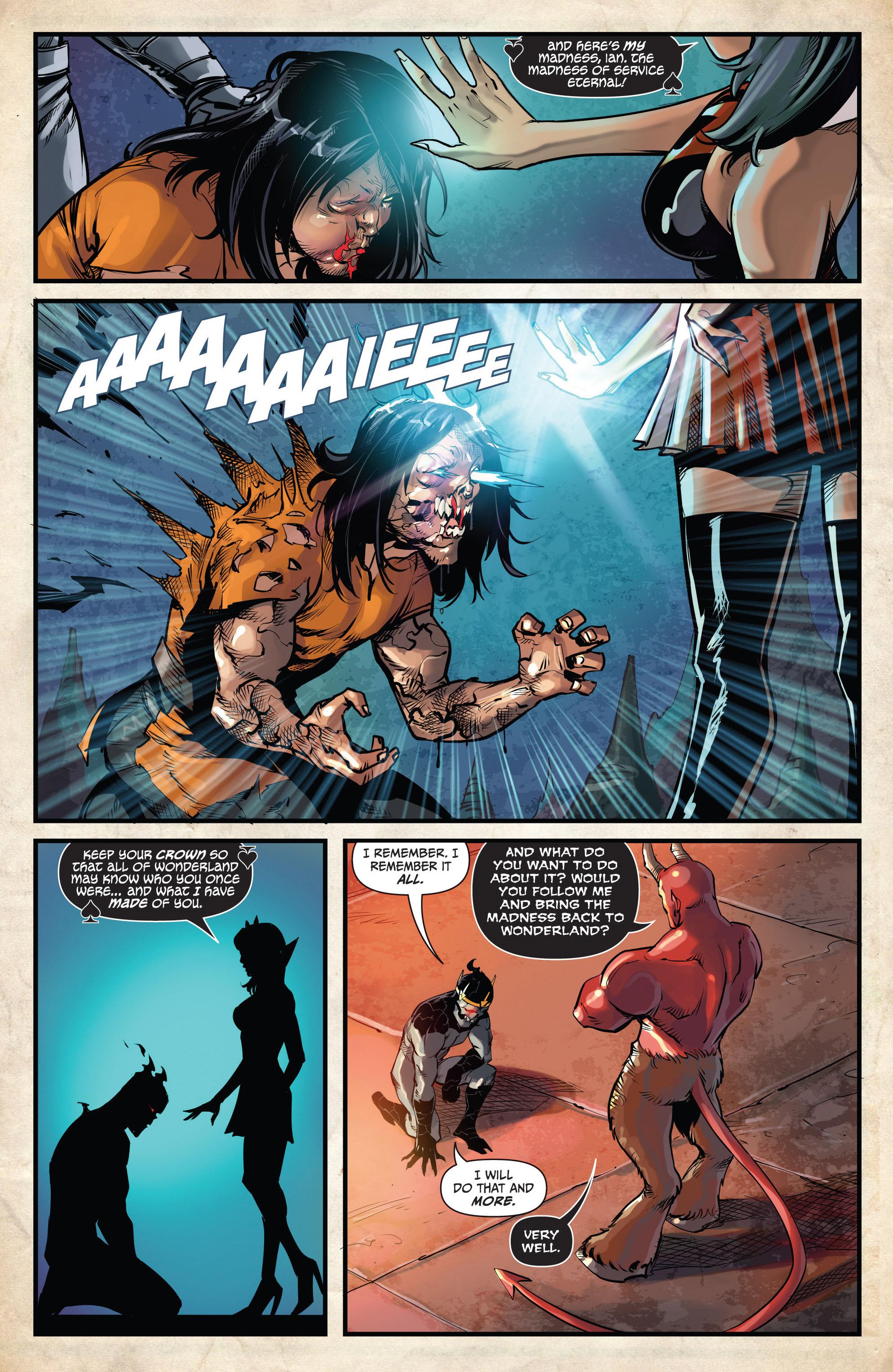 Read online Grimm Fairy Tales vs. Wonderland comic -  Issue #3 - 17