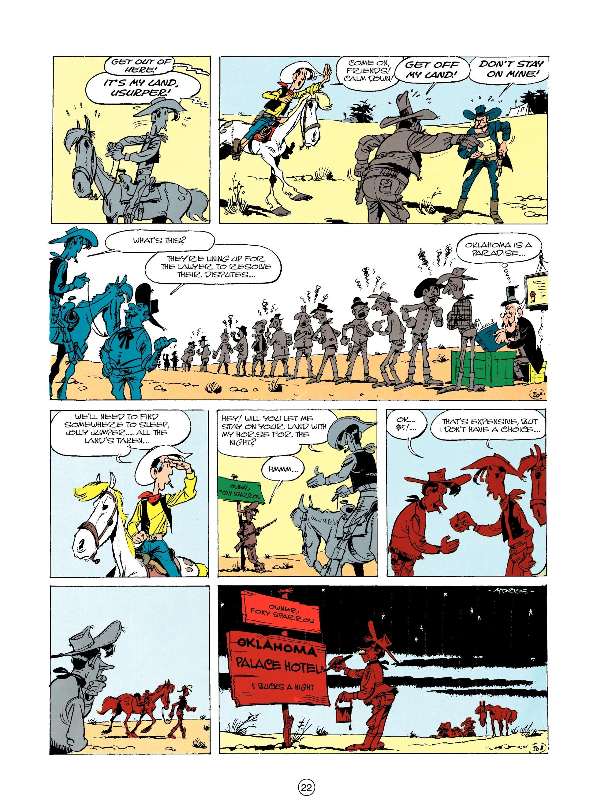 Read online A Lucky Luke Adventure comic -  Issue #20 - 22