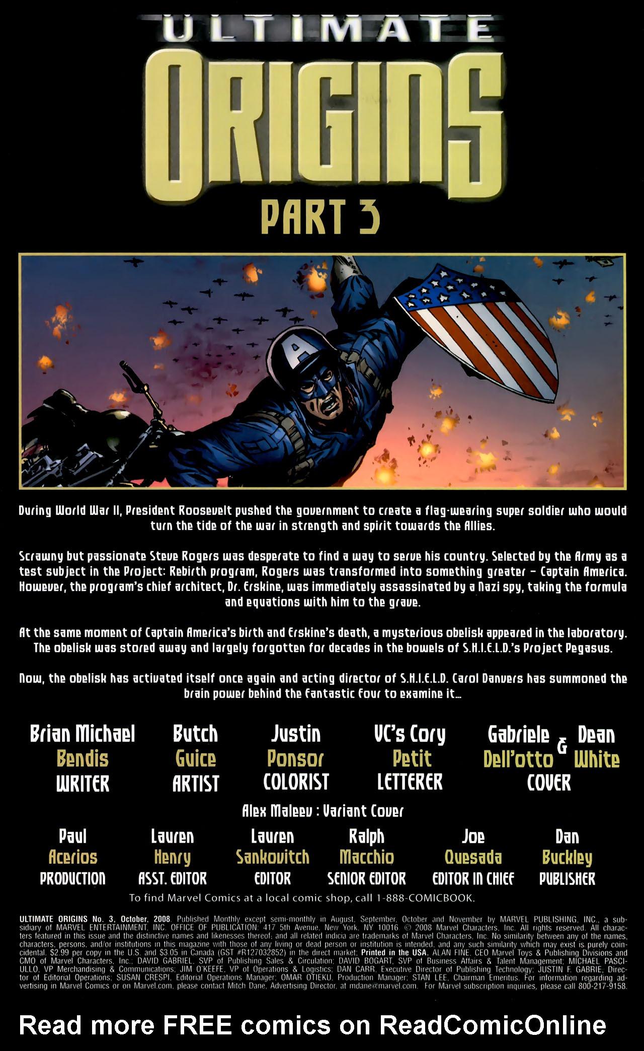 Read online Ultimate Origins comic -  Issue #3 - 2