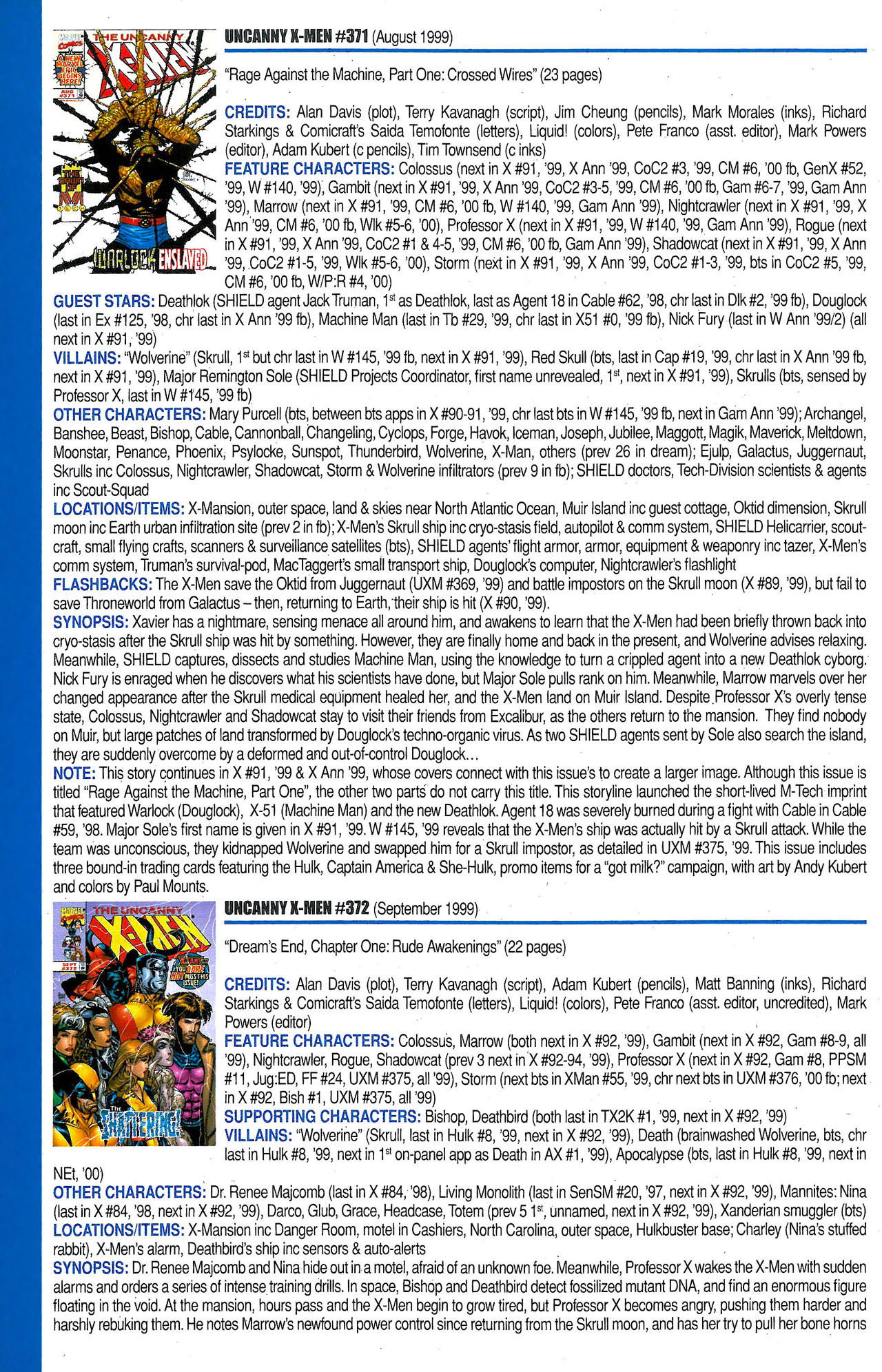 Read online Official Index to the Marvel Universe comic -  Issue #9 - 64