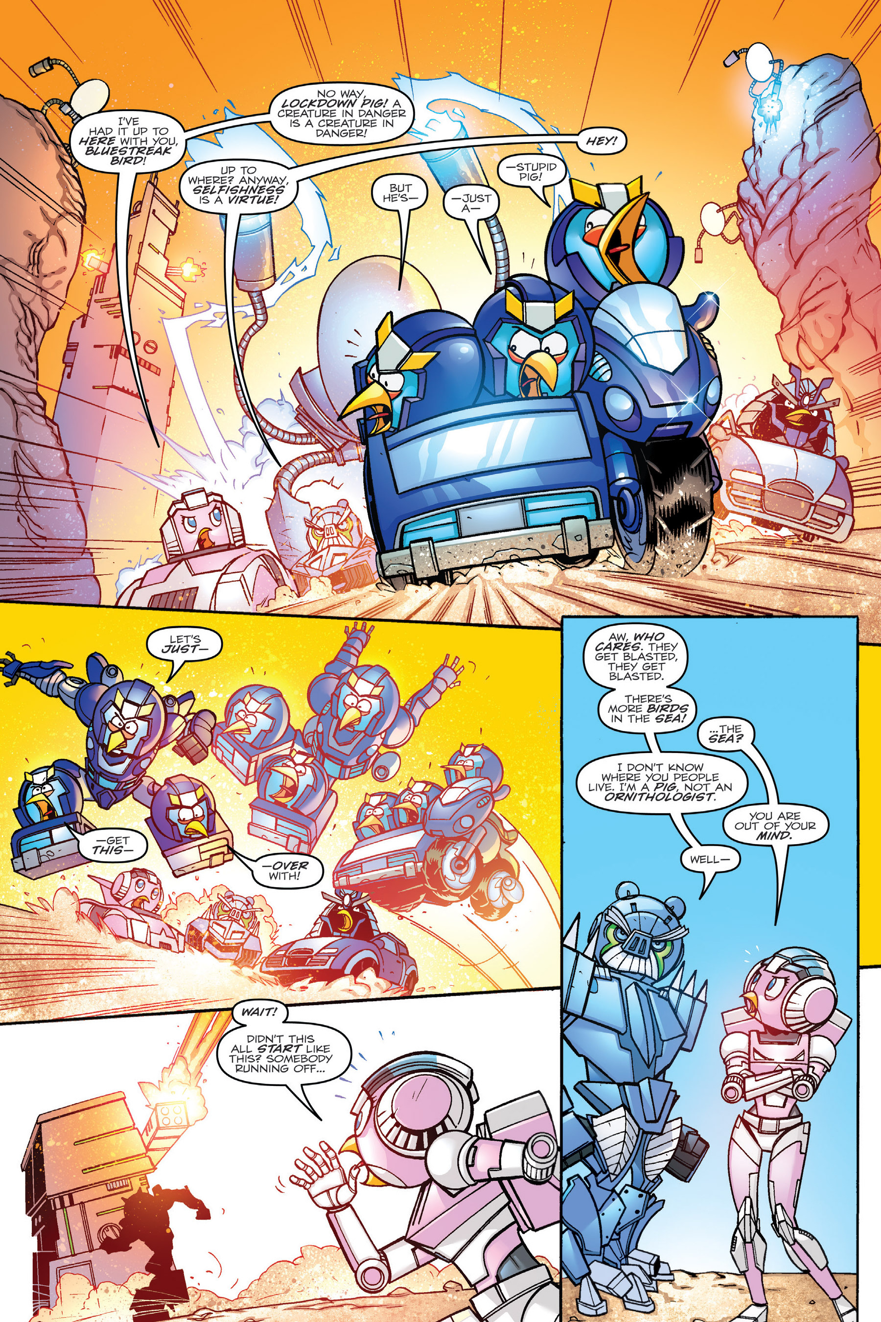 Read online Angry Birds Transformers: Age of Eggstinction comic -  Issue # Full - 55