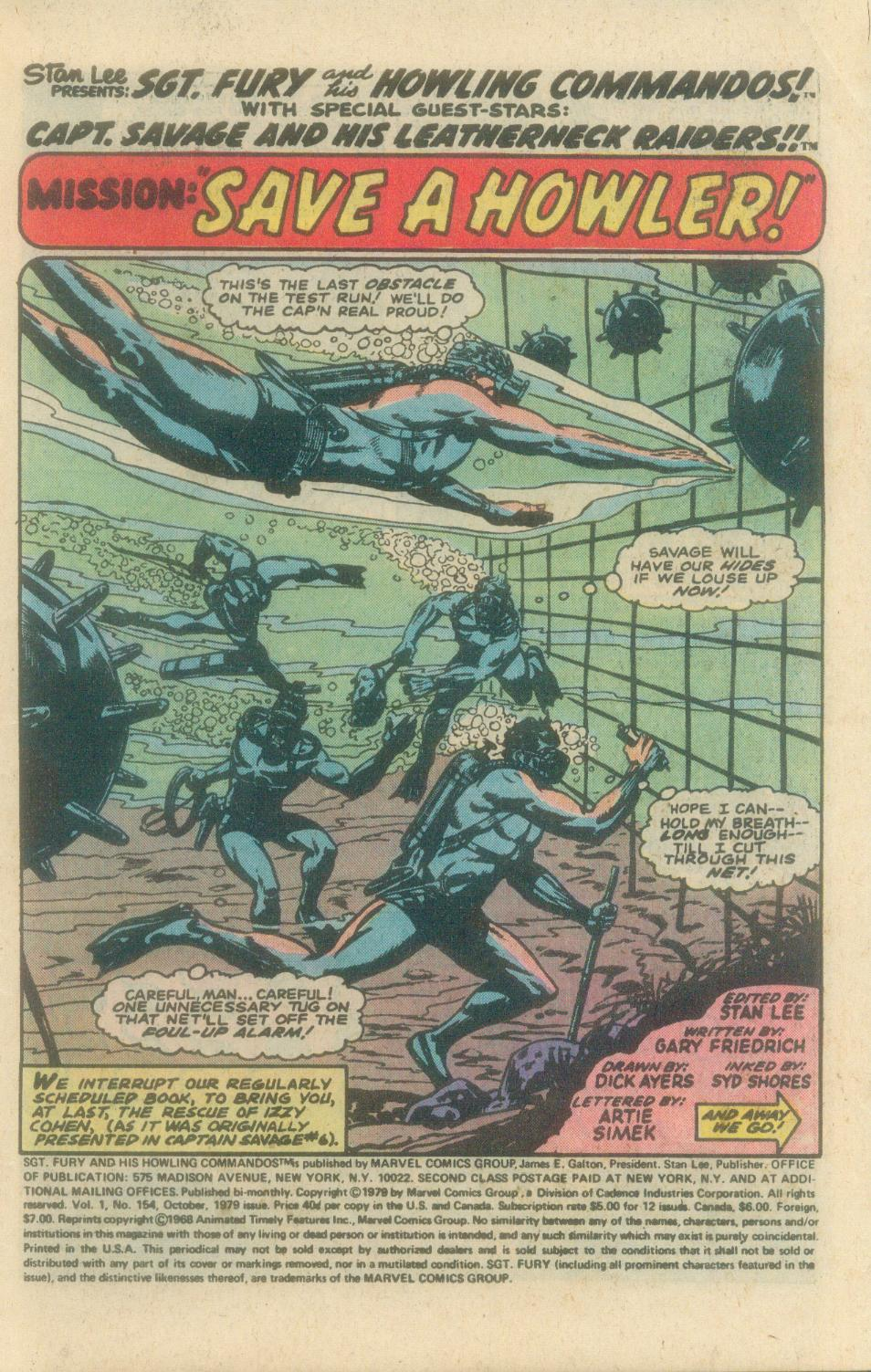 Read online Sgt. Fury comic -  Issue #154 - 3